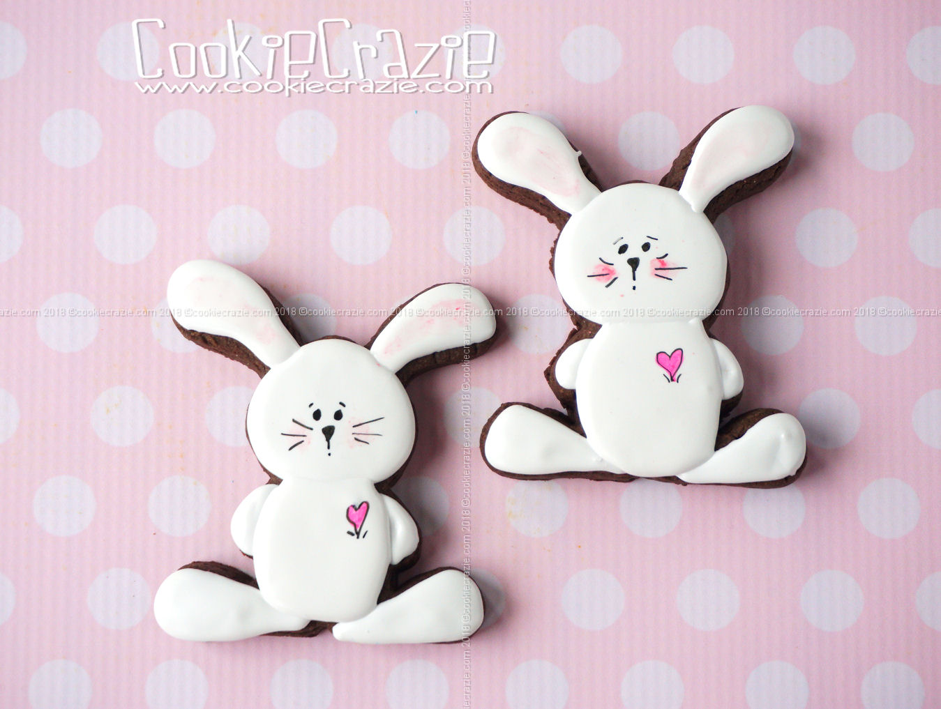 Floppy Bunny Decorated Sugar Cookie YouTube video  HERE  Bunny cutter found  HERE