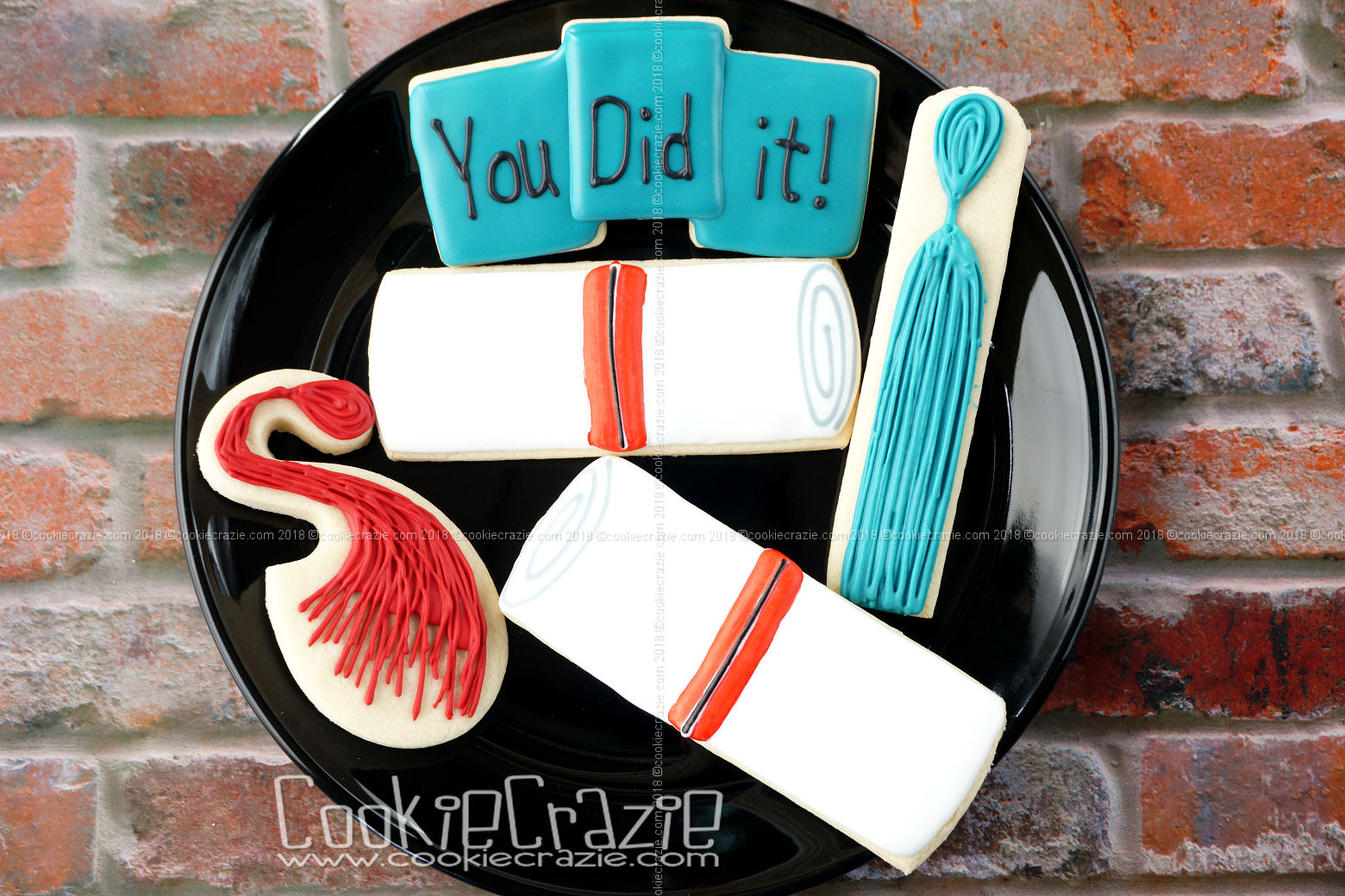 Graduation Diploma Decorated Sugar Cookie YouTube video  HERE