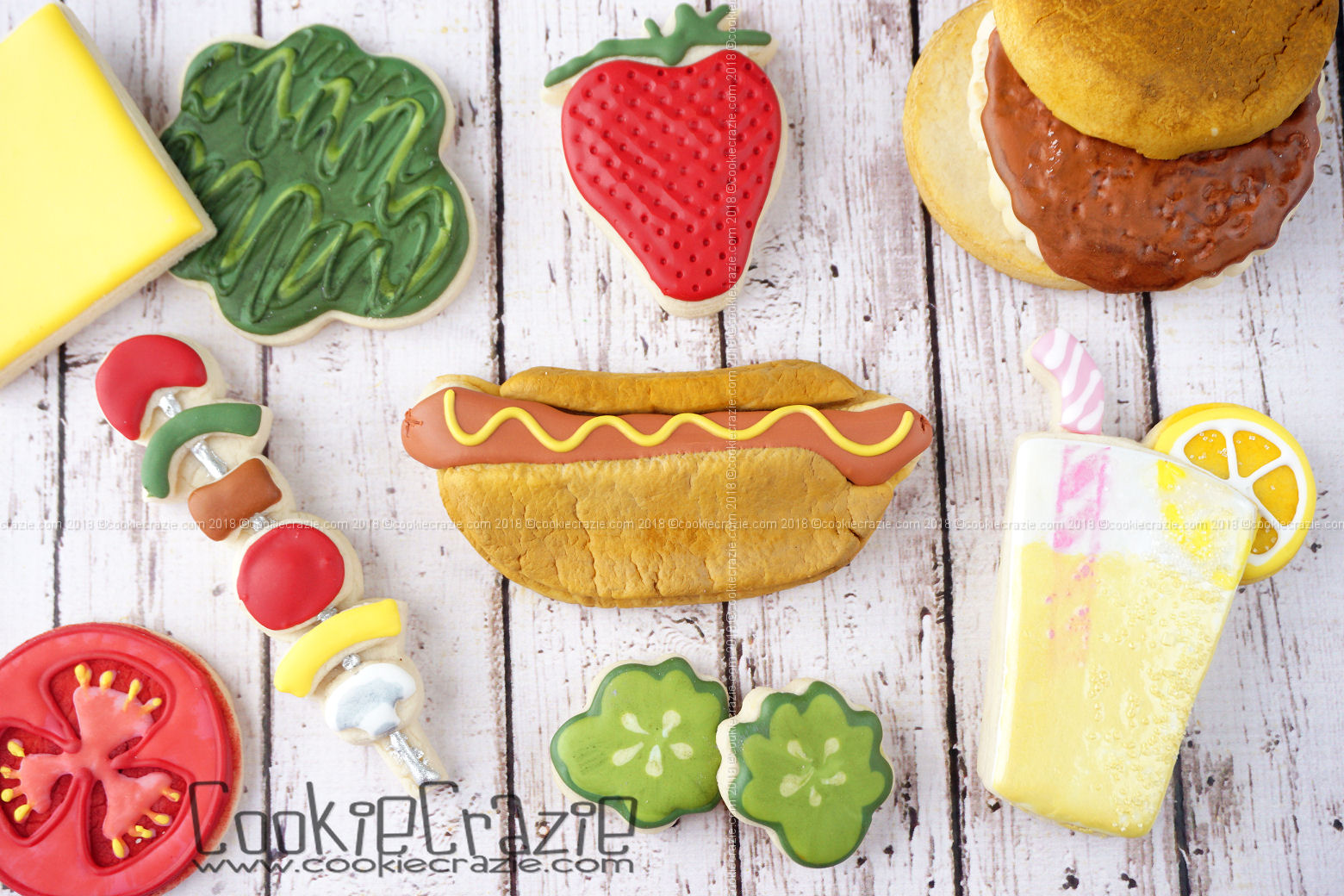 Hot Dog Decorated Sugar Cookie YouTube video  HERE
