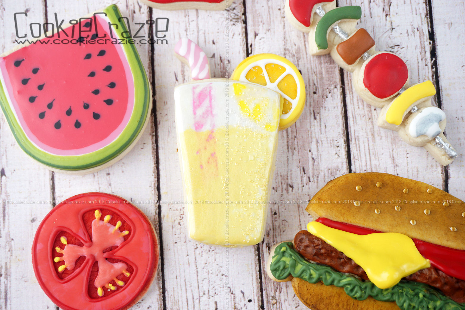 Lemonade Decorated Sugar Cookie YouTube video  HERE