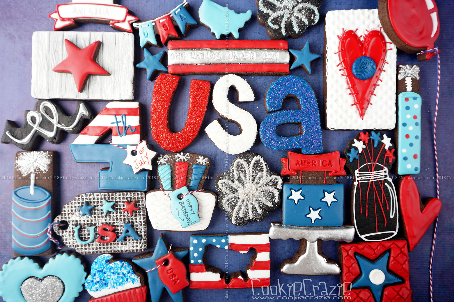Happy 4th Of July America Decorated Cookie Collection Cookiecrazie