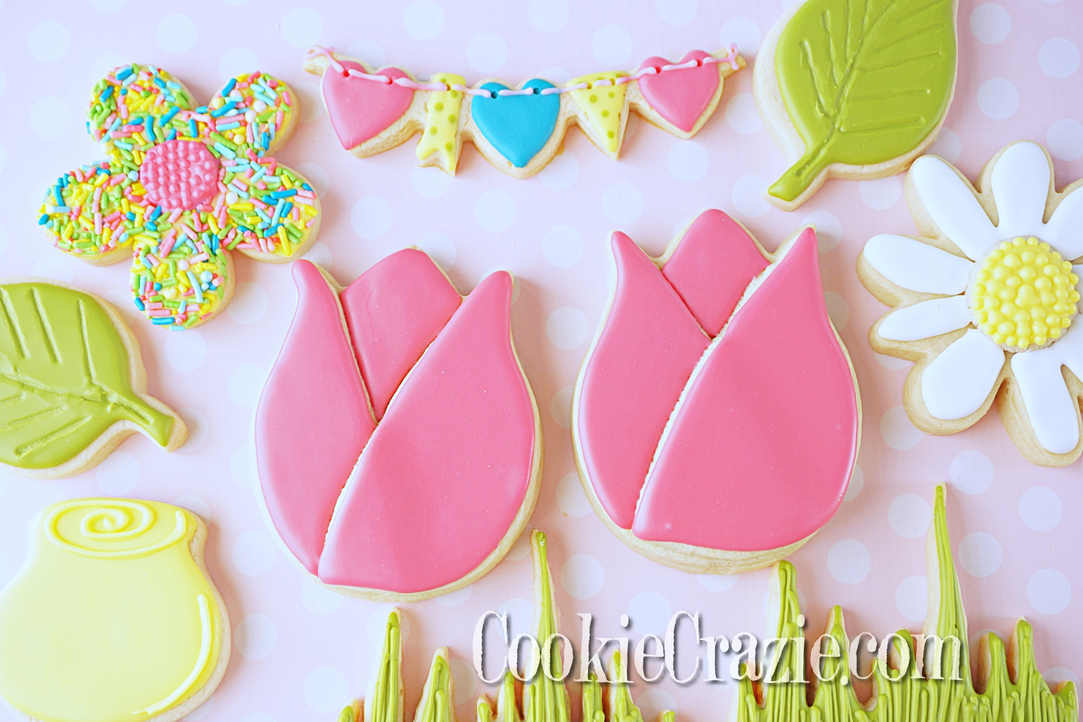 Tulip Decorated Sugar Cookie YouTube video found  HERE