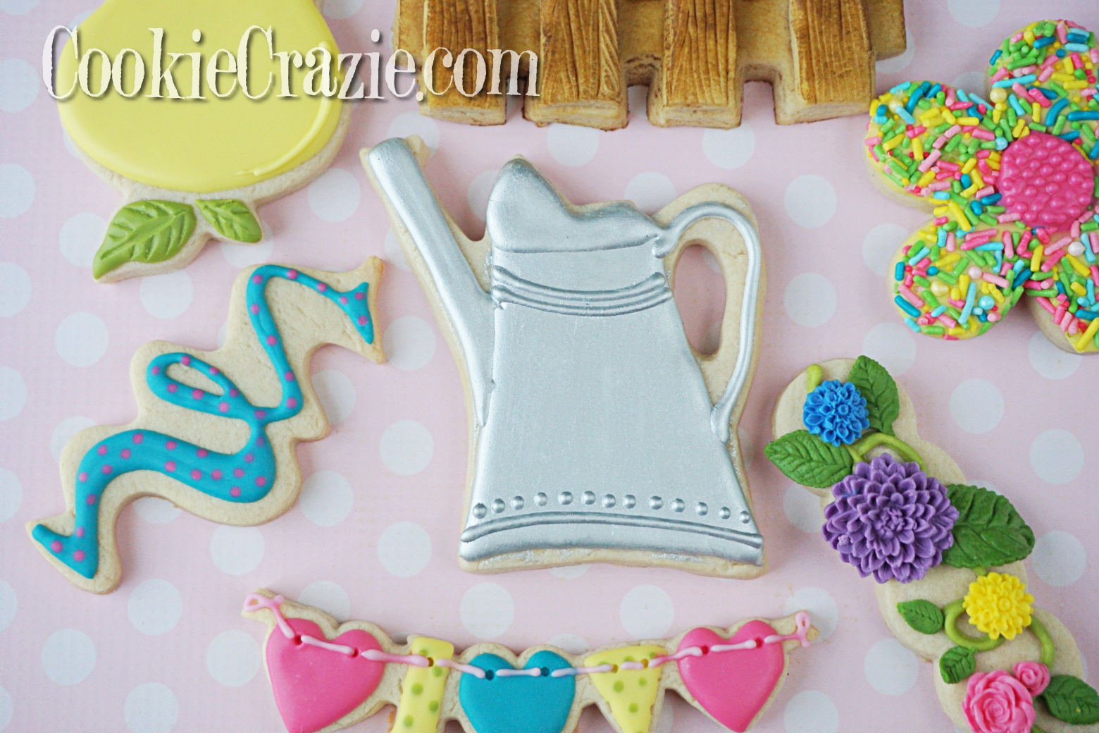 Watering Can Decorated Sugar Cookie YouTube video  HERE