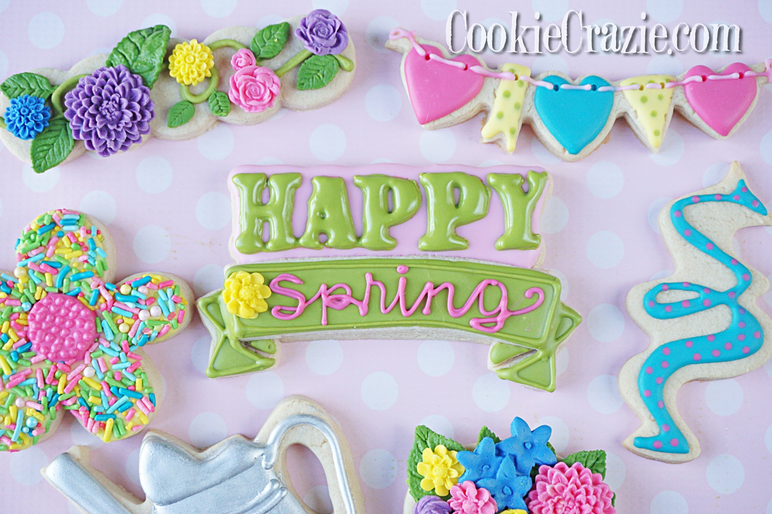 Happy Spring Plaque Decorated Sugar Cookie YouTube video  HERE