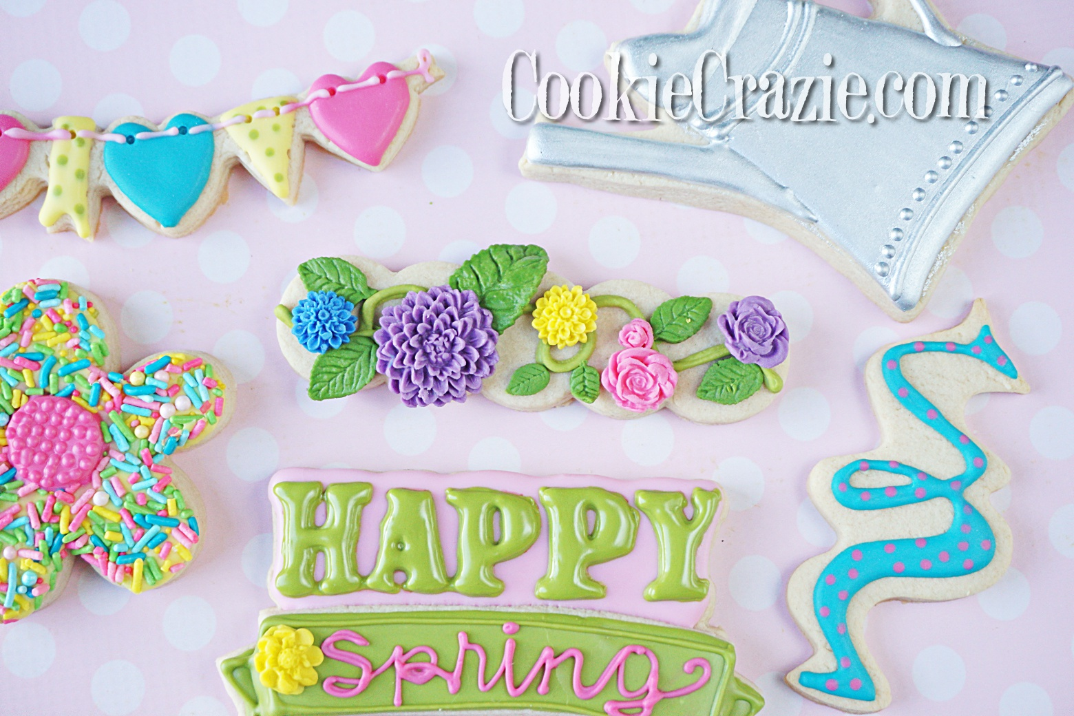 Floral Vine Decorated Sugar Cookie YouTube video  HERE