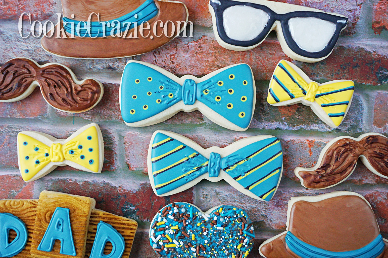 Bowtie Decorated Sugar Cookies YouTube video  HERE        Bowtie cutter found  HERE