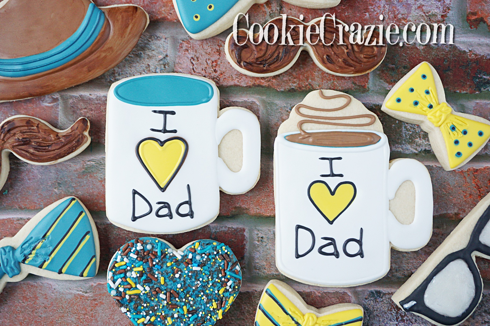 I ❤️ DAD Mug Decorated Sugar Cookies YouTube video  HERE