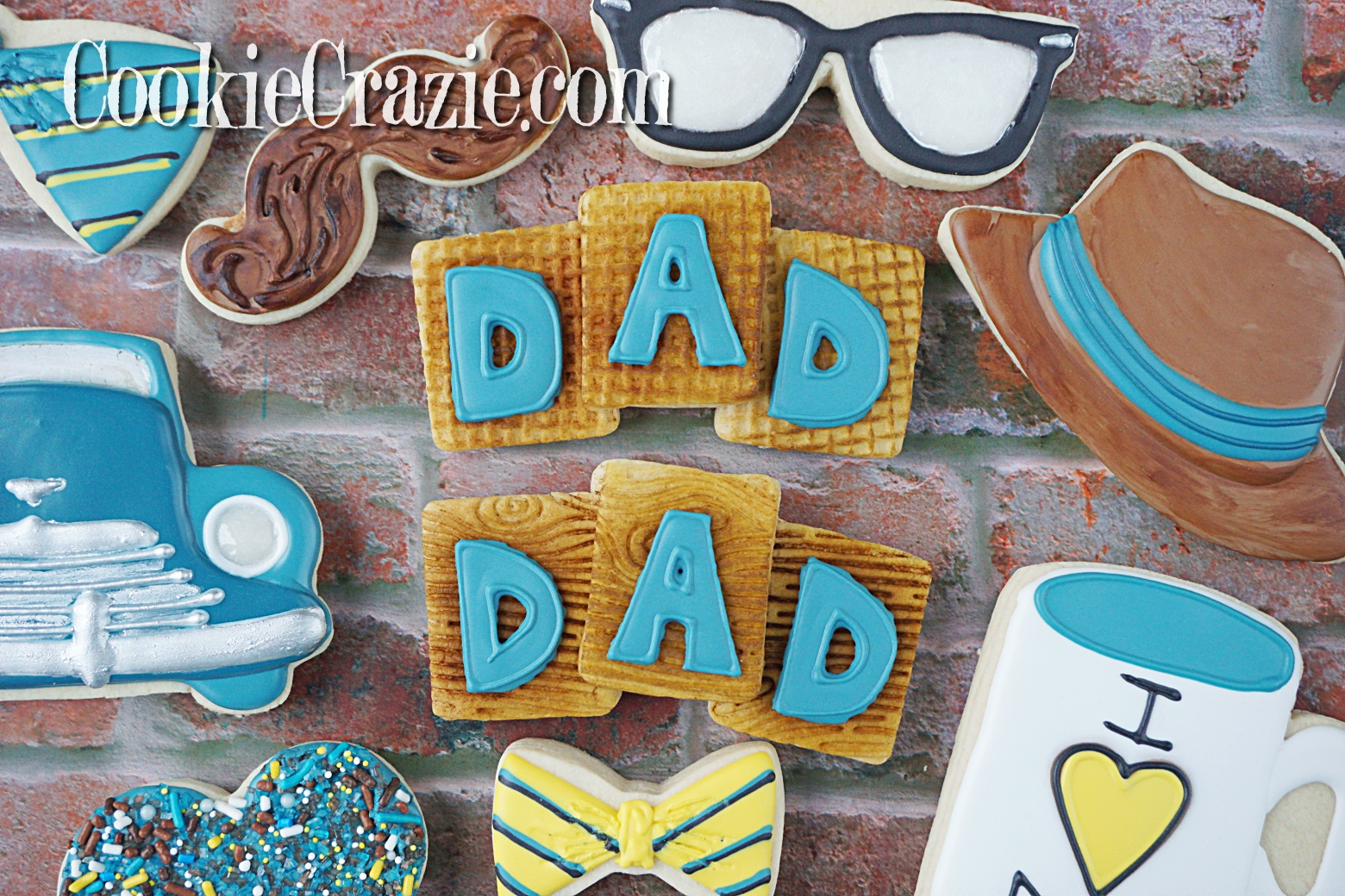 DAD Trio Blocks Decorated Sugar Cookies YouTube video  HERE      Trio block cookie cutter found  HERE