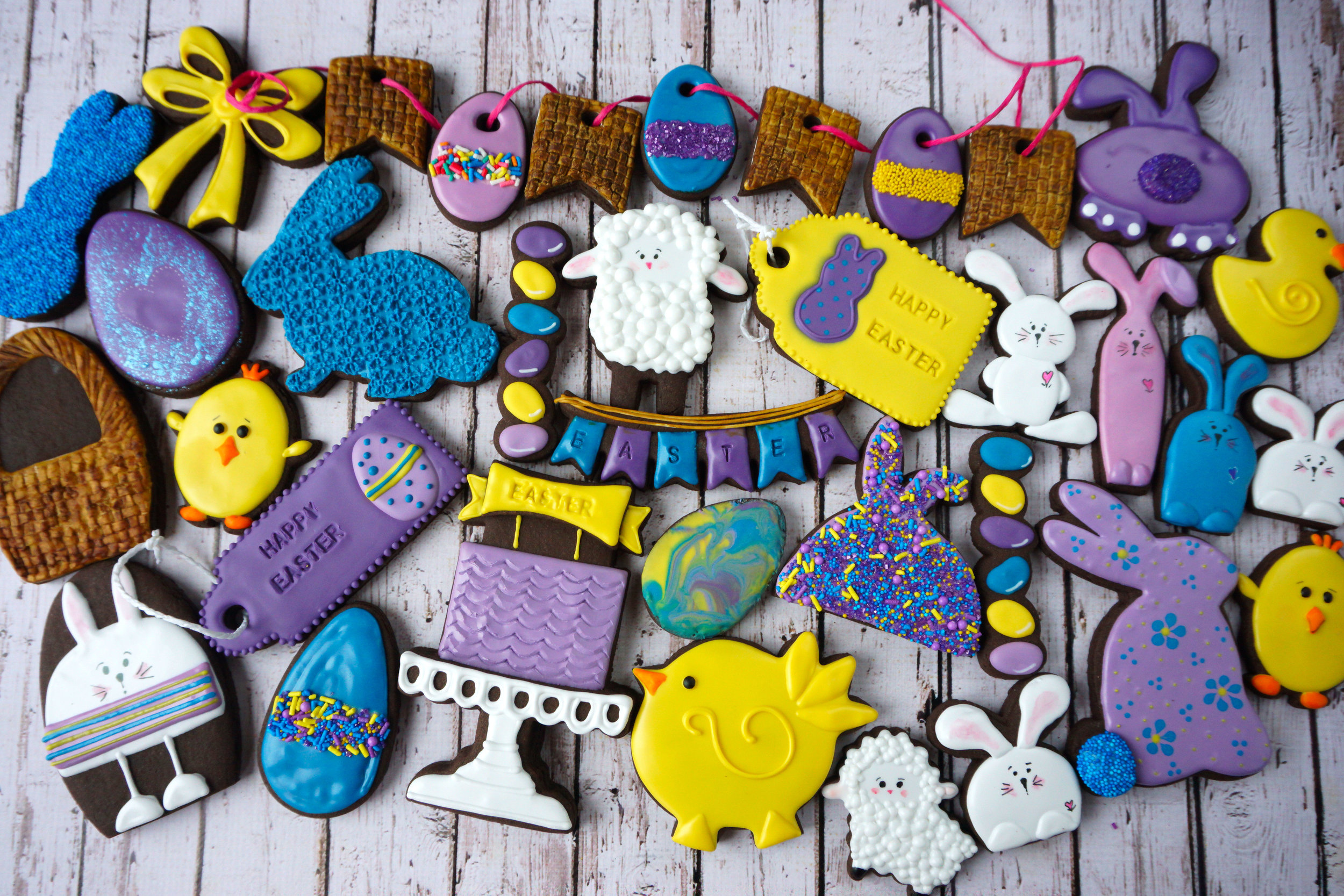 Happy Easter 2018 Decorated Cookie Collection