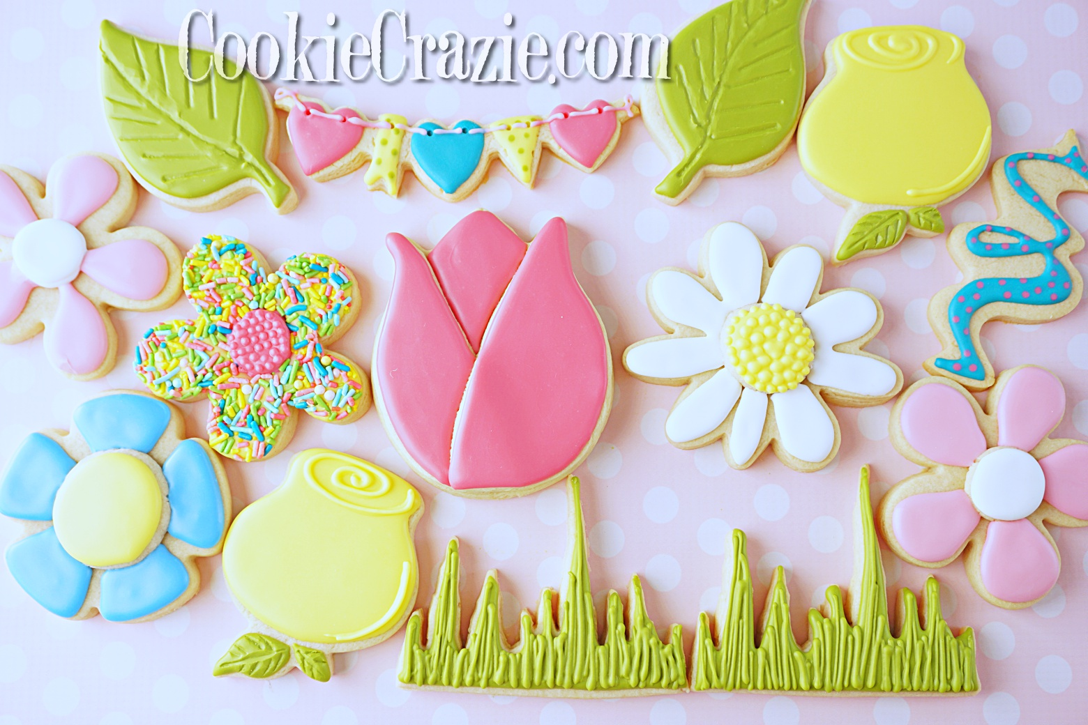 Grass Decorated Sugar Cookie YouTube video  HERE