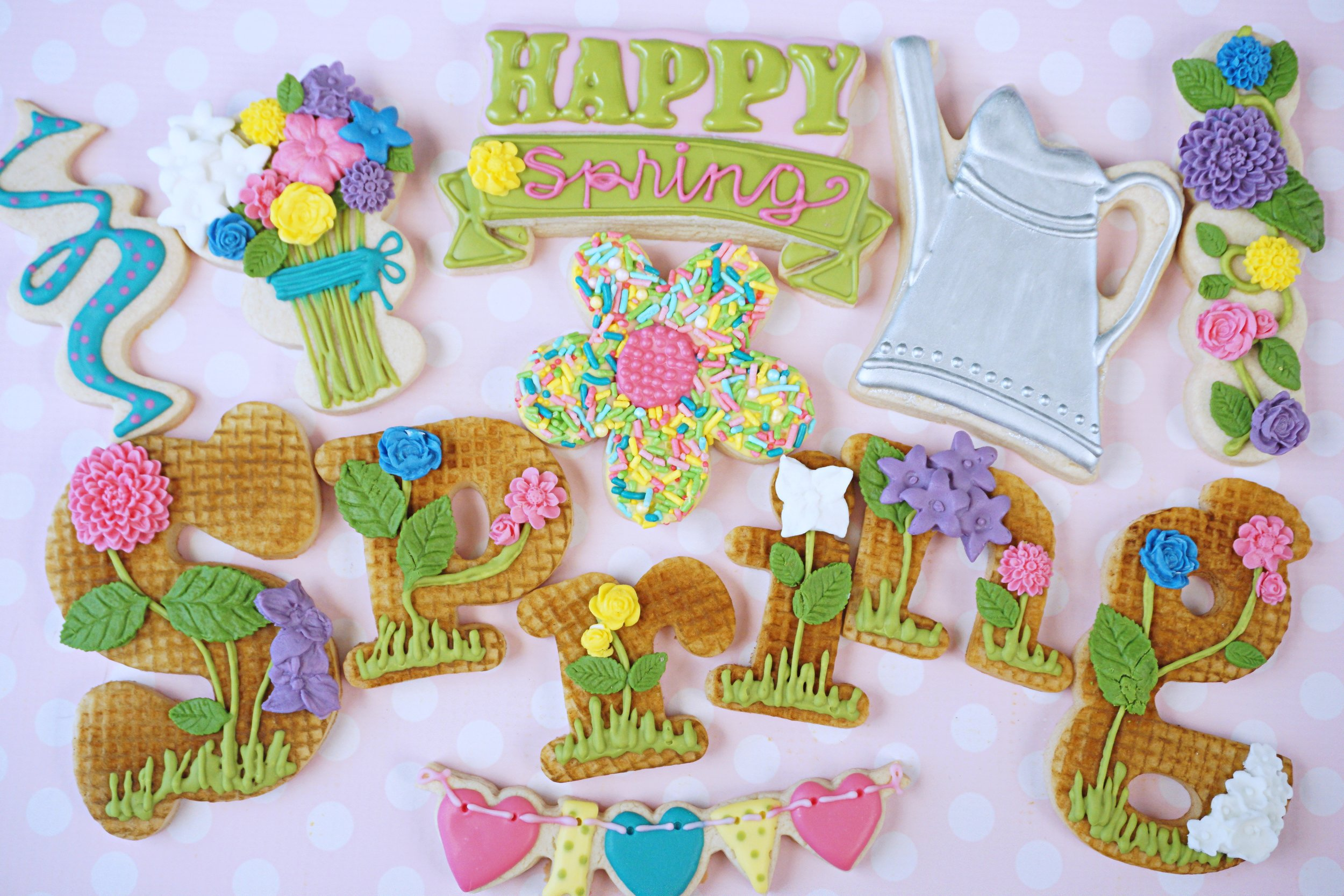 Happy Spring Decorated Cookie Collection