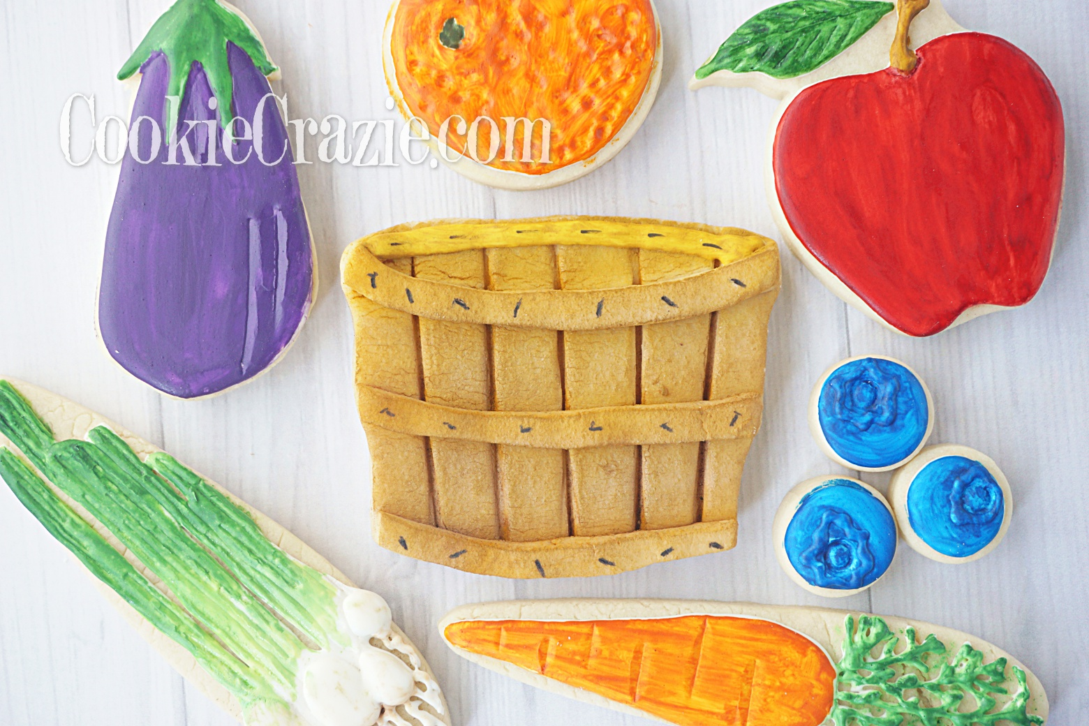 Bushel Basket Decorated Sugar Cookie YouTube video  HERE