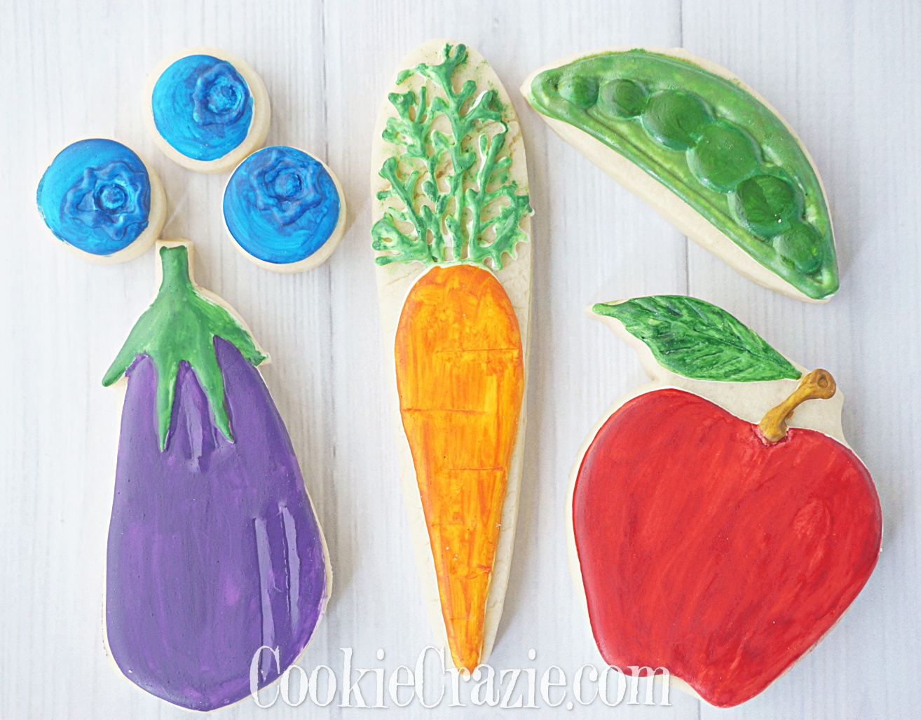Carrot Decorated Sugar Cookie YouTube video  HERE