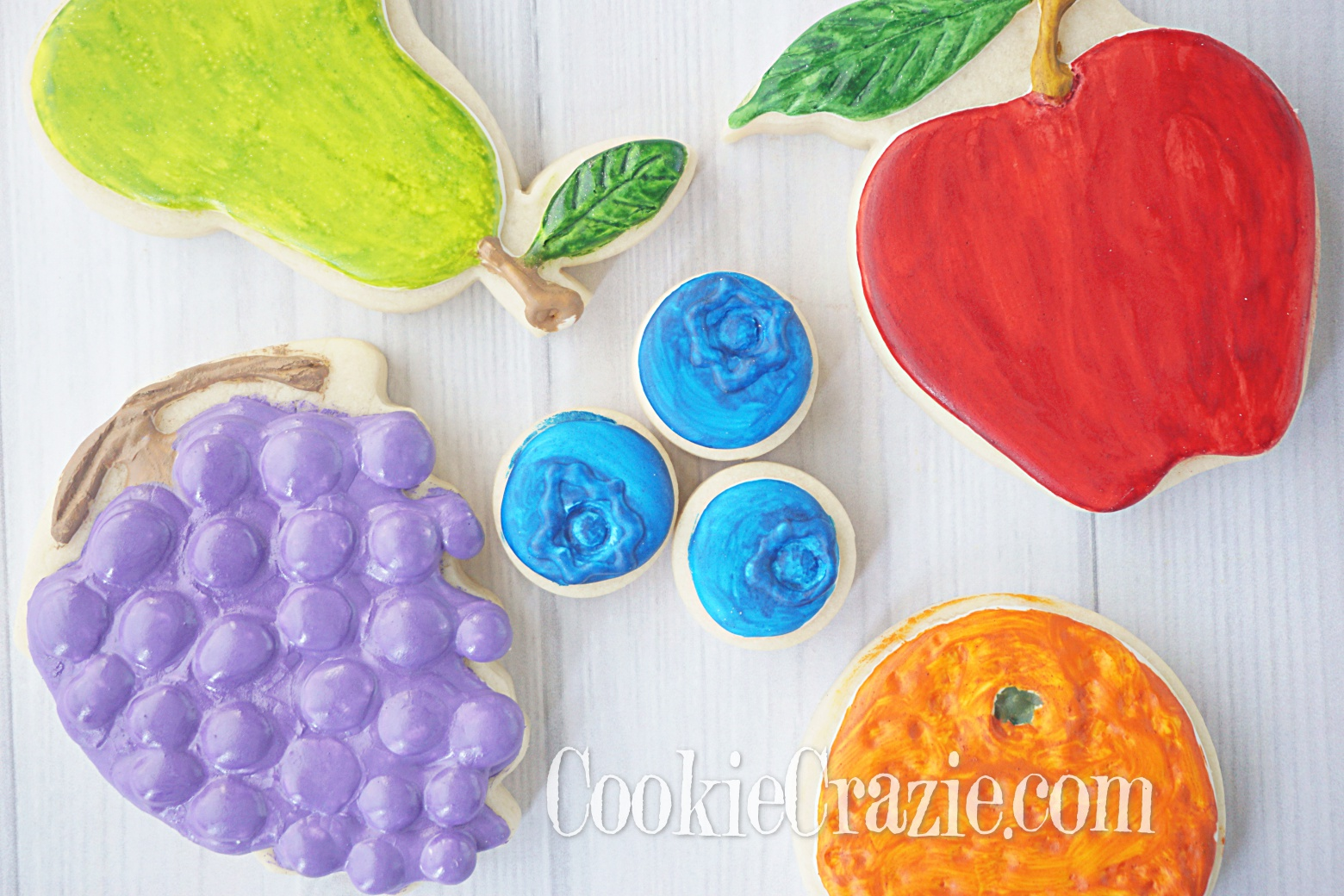 Blueberry Decorated Sugar Cookie YouTube video  HERE
