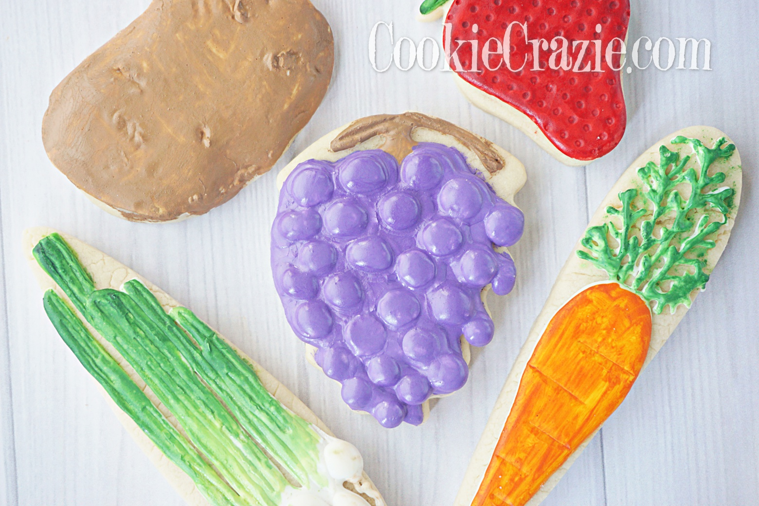 Grapes Decorated Sugar Cookies YouTube video  HERE