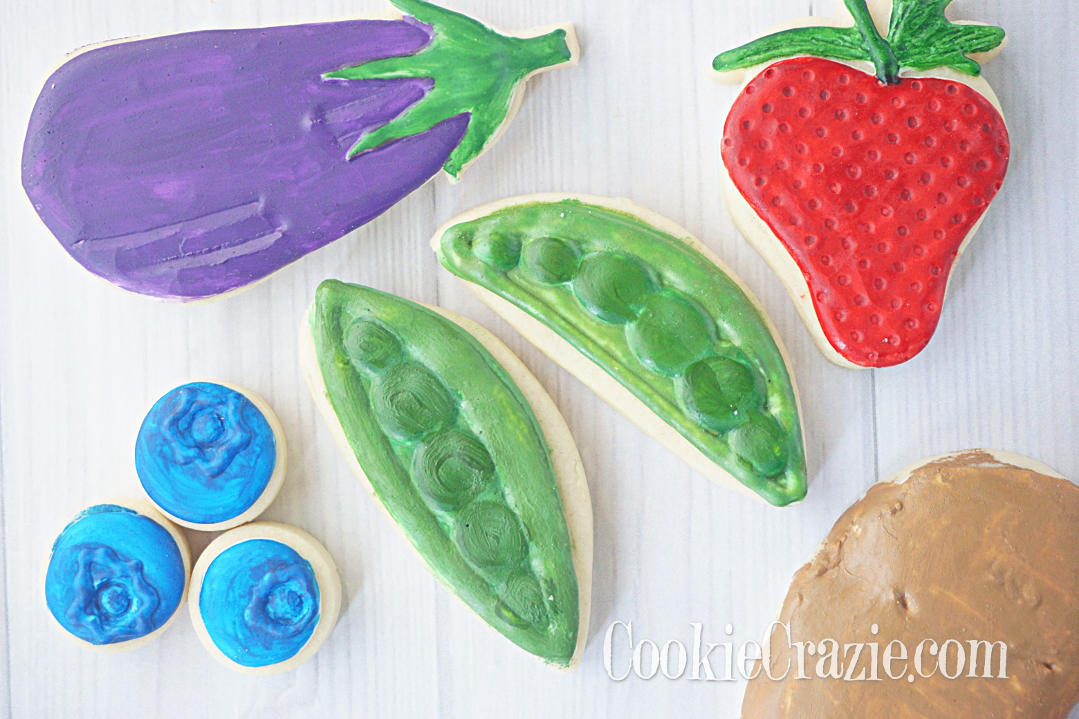 Peas Decorated Sugar Cookie YouTube video  HERE