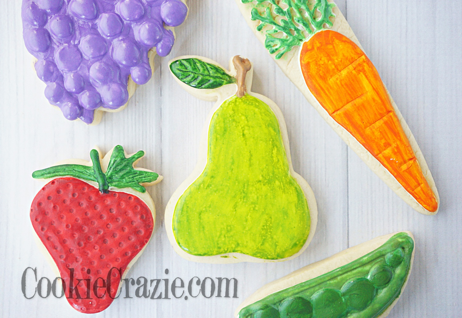 Pear Decorated Sugar Cookie YouTube video  HERE
