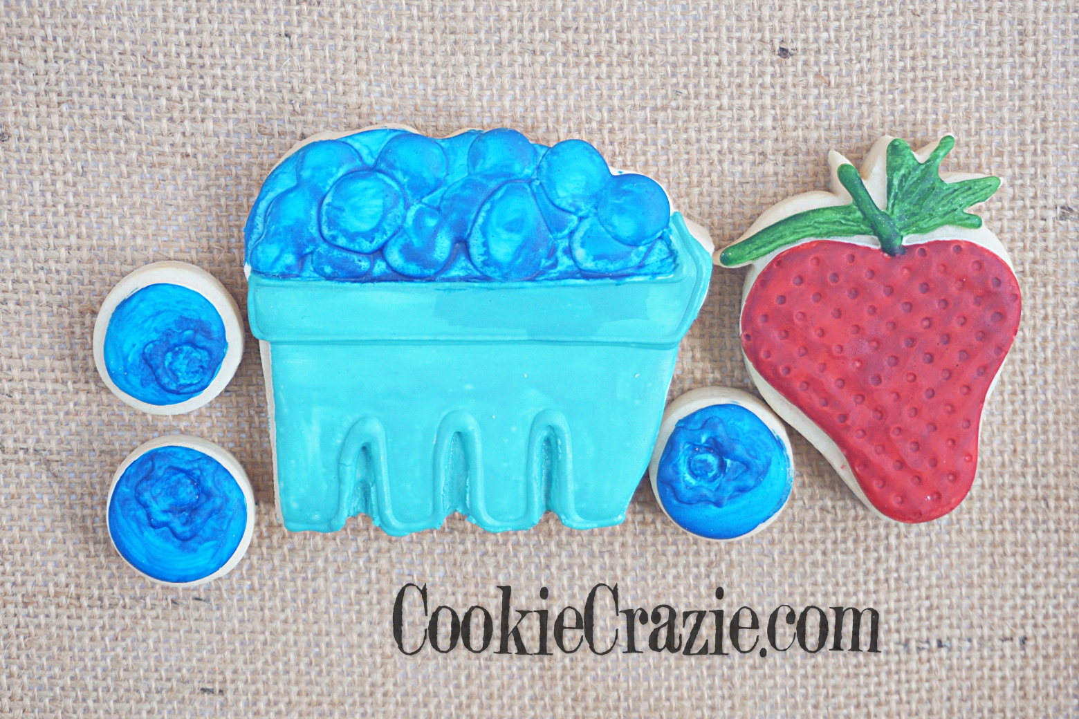 Berry Box Decorated Sugar Cookie YouTube video  HERE