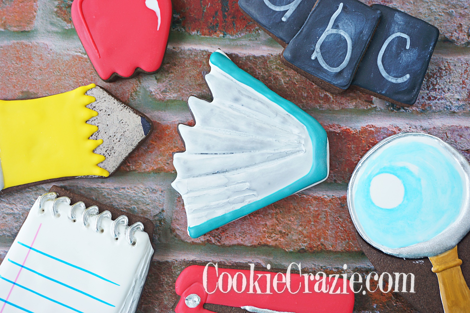 Open Book Decorated Sugar Cookie YouTube video  HERE