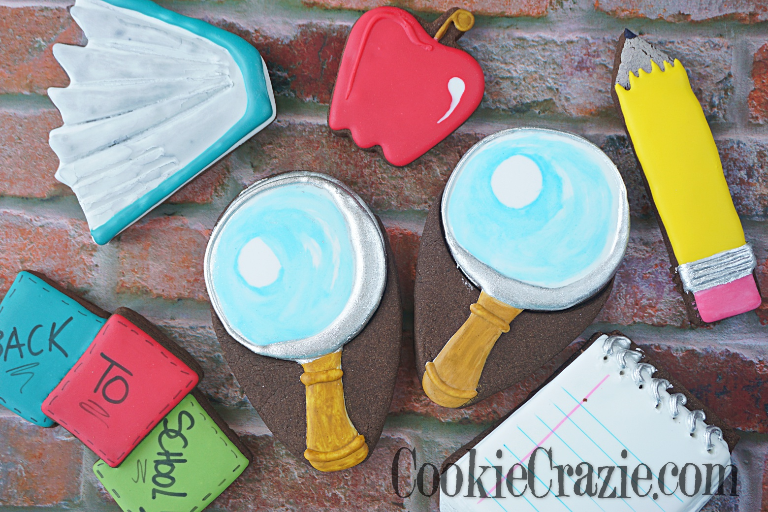 Magnifying Glass Decorated Sugar Cookie YouTube video  HERE