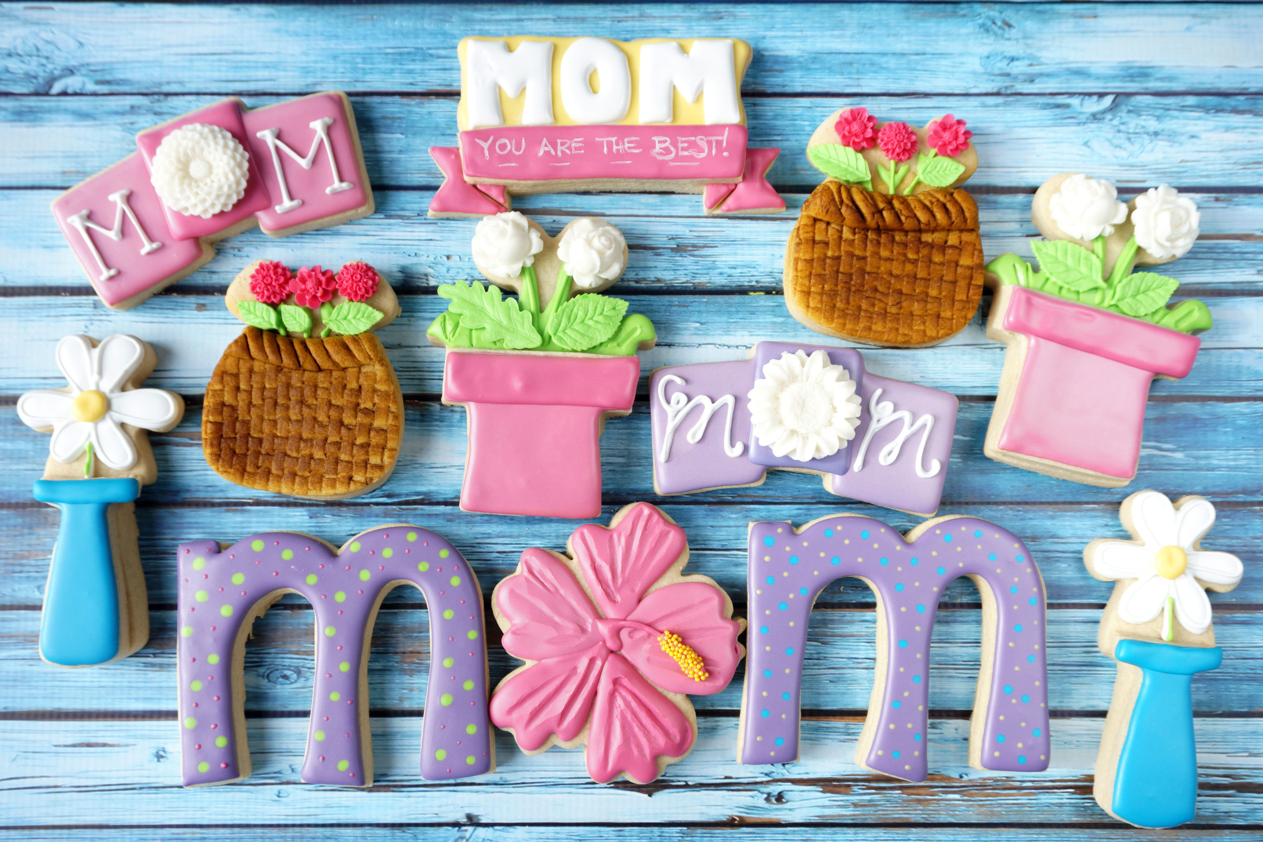 Flowers for MOM Decorated Cookie Collection