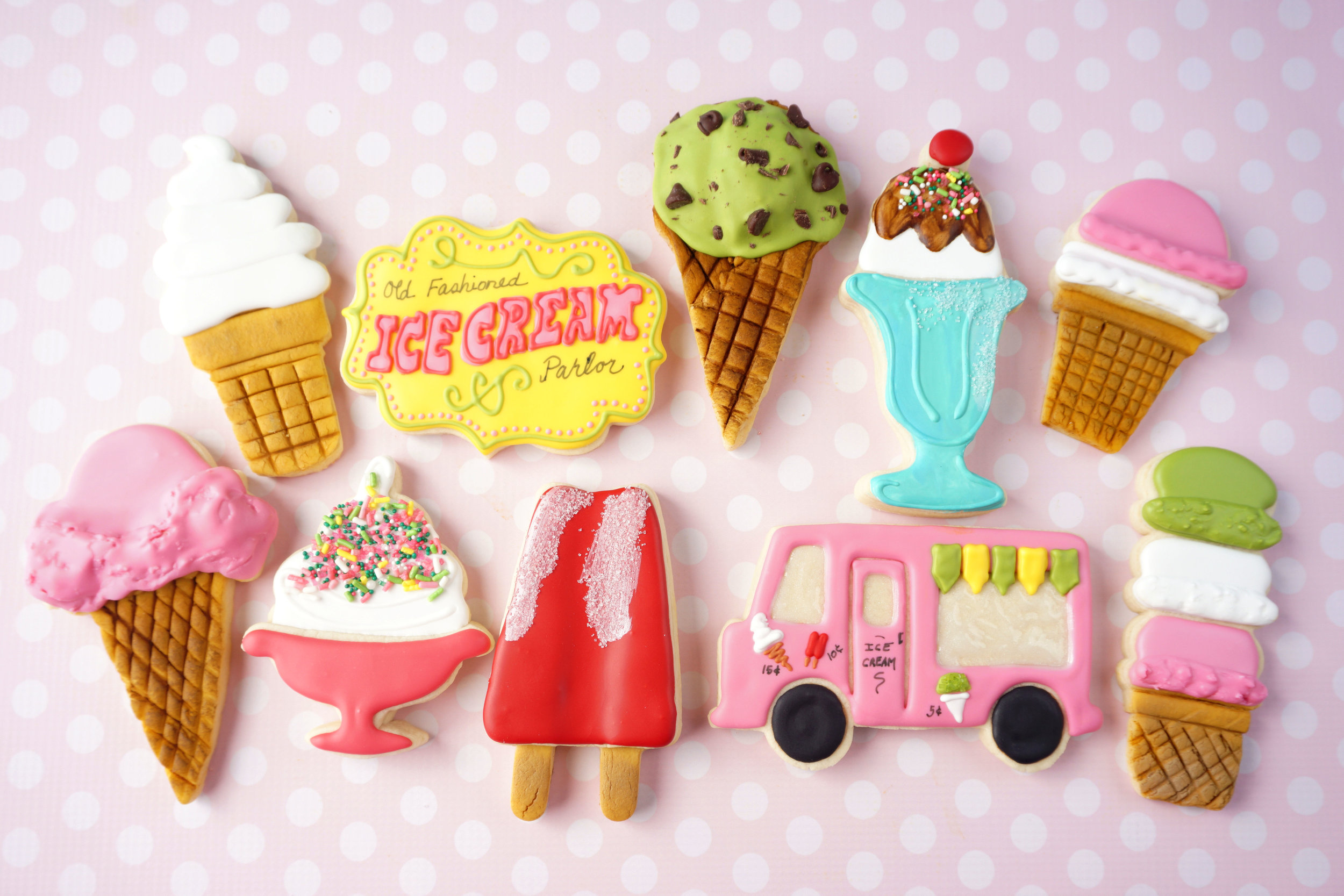 Scream for Ice Cream Decorated Cookie Collection