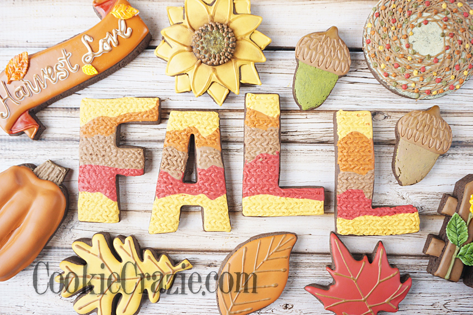 FALL Decorated Sugar Cookies YouTube video H ERE