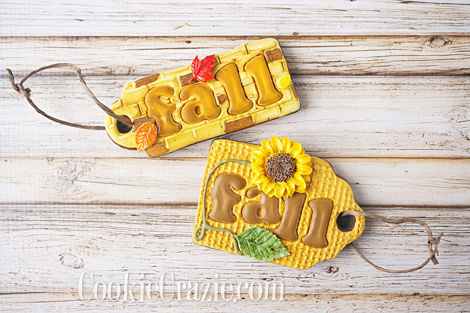 Fall Gift Tag Decorated Sugar Cookies YouTube video  HERE