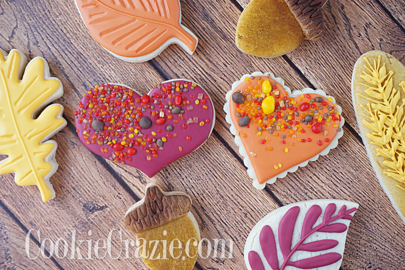 Thanksgiving Heart Decorated Sugar Cookies YouTube video  HERE