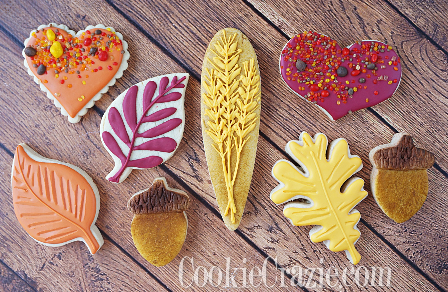 Thanksgiving Wheat Decorated Sugar Cookie YouTube video  HERE