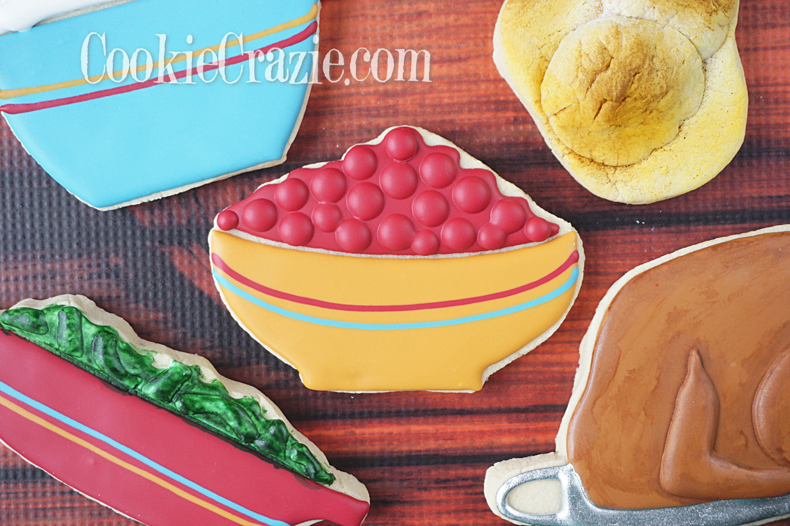 Bowl of Cranberries Decorated Sugar Cookie YouTube video  HERE