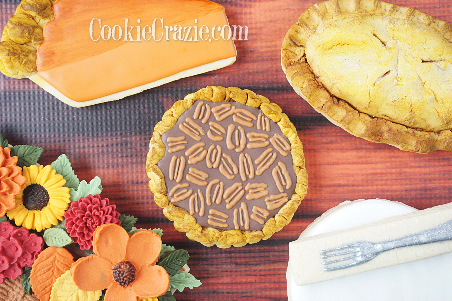 Pecan Pie Decorated Sugar Cookie YouTube video  HERE
