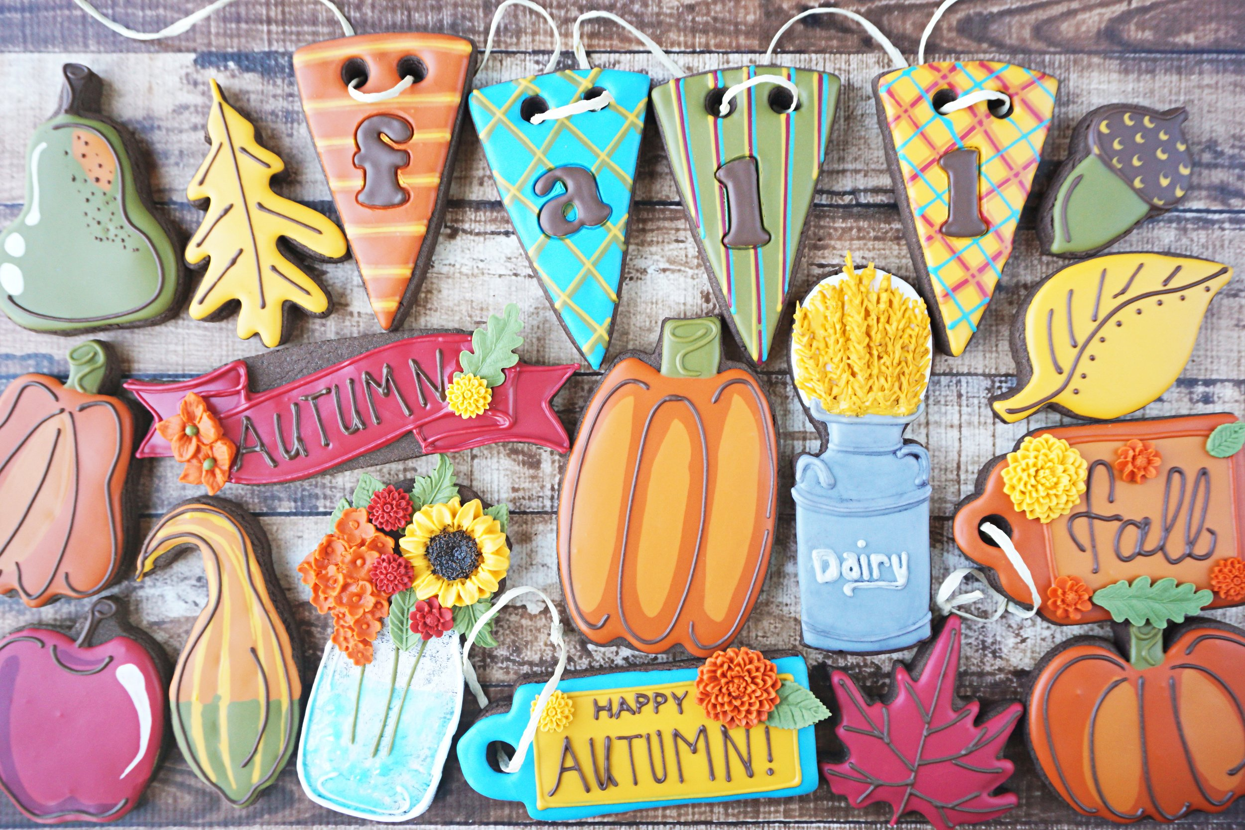 Autumn Delights Decorated Cookie Collection