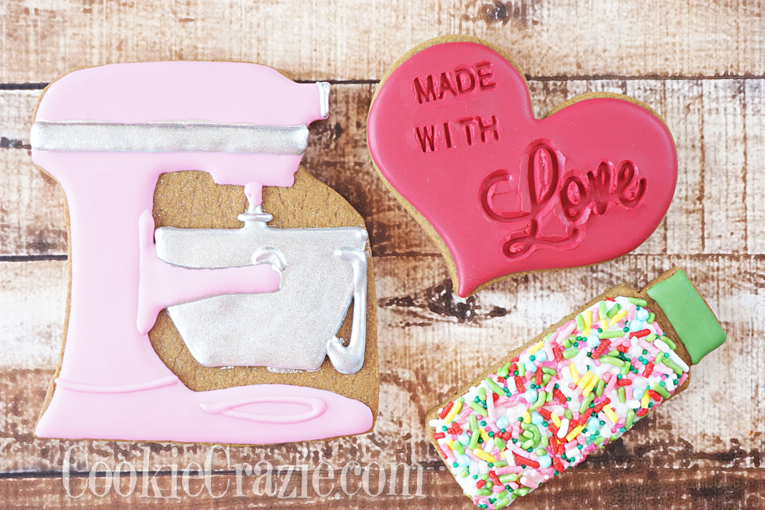 Made with Love Heart Decorated Sugar Cookies YouTube video  HERE