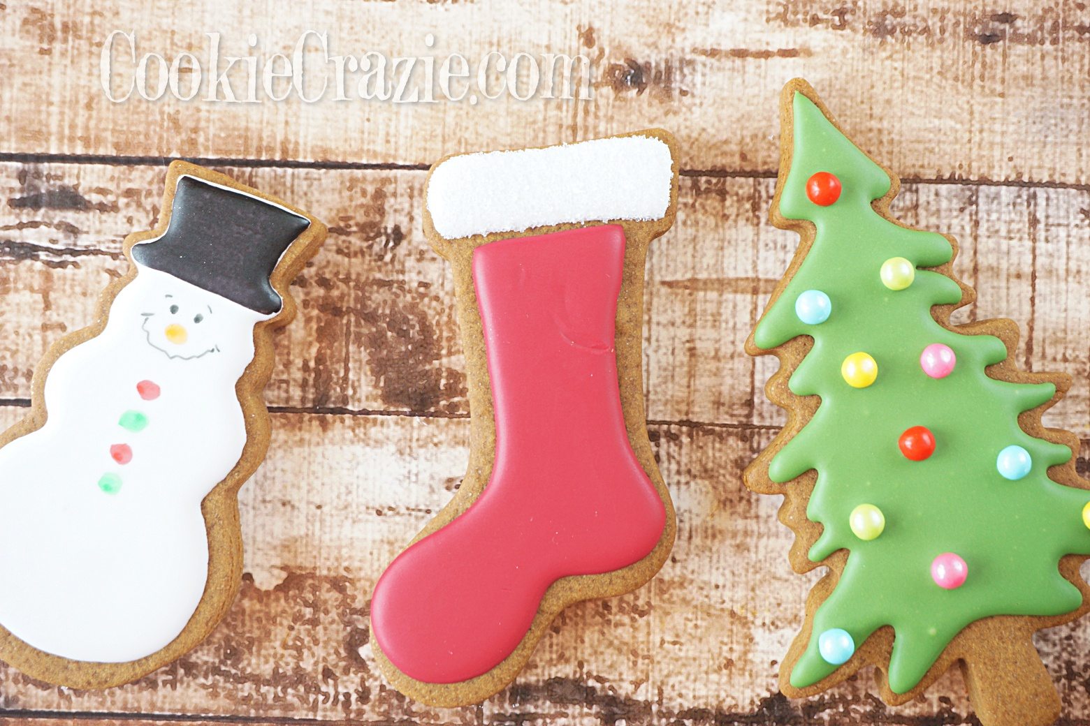 Stocking Decorated Sugar Cookie YouTube video  HERE