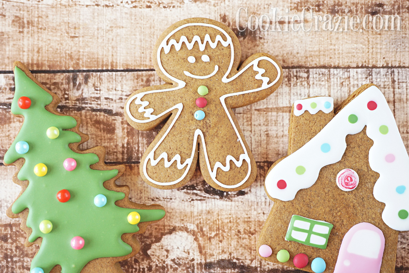 Gingerbread Man Decorated Sugar Cookie YouTube video  HERE