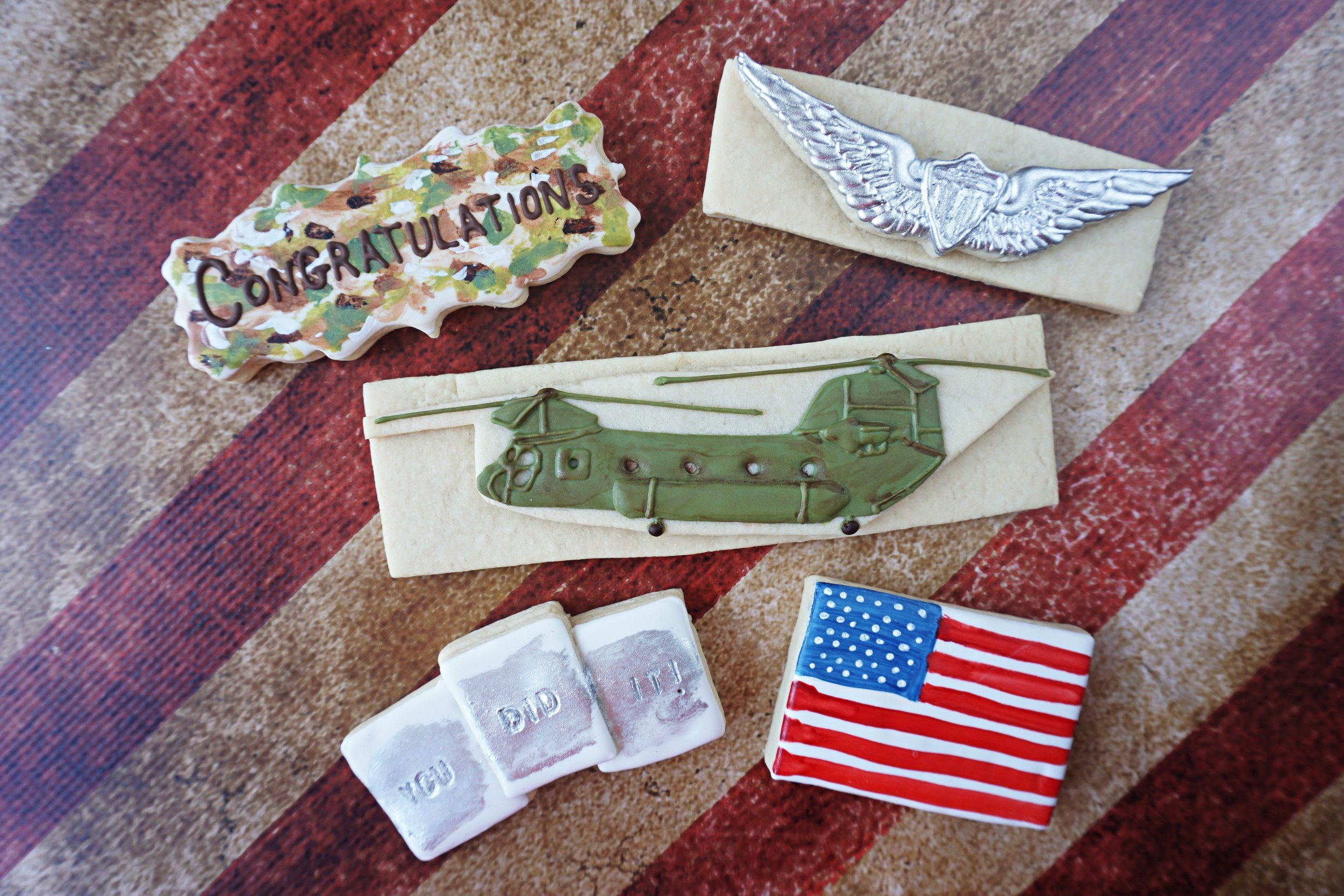 Army Aviation Graduation Decorated Cookie Collection