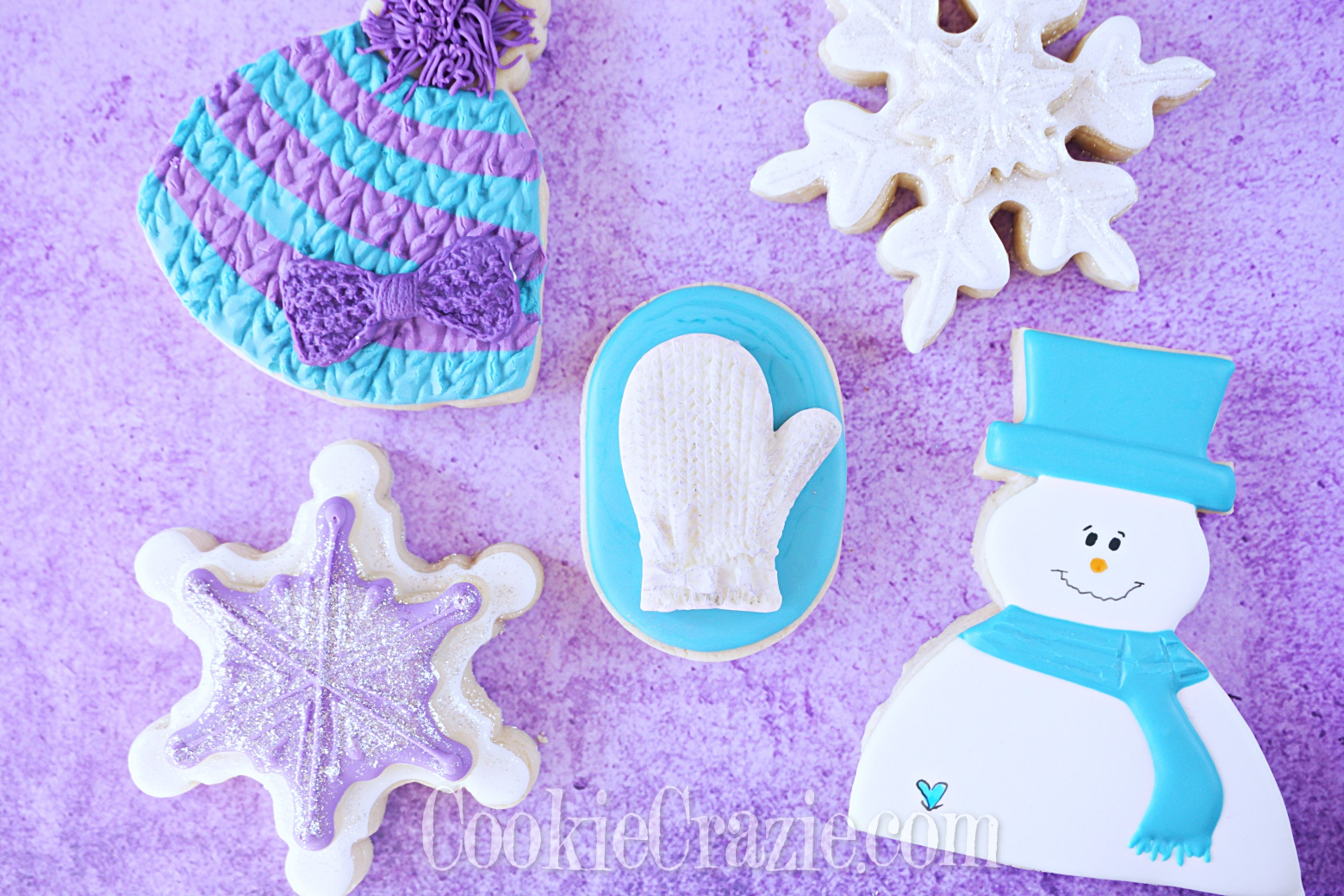 Winter Mitten Decorated Sugar Cookie YouTube video  HERE
