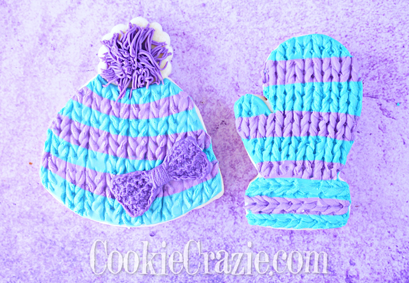 Winter Hat Decorated Sugar Cookie YouTube video  HERE
