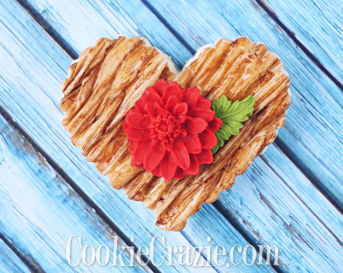 Wicker Valentines Heart Decorated Sugar Cookie YouTube video  HERE
