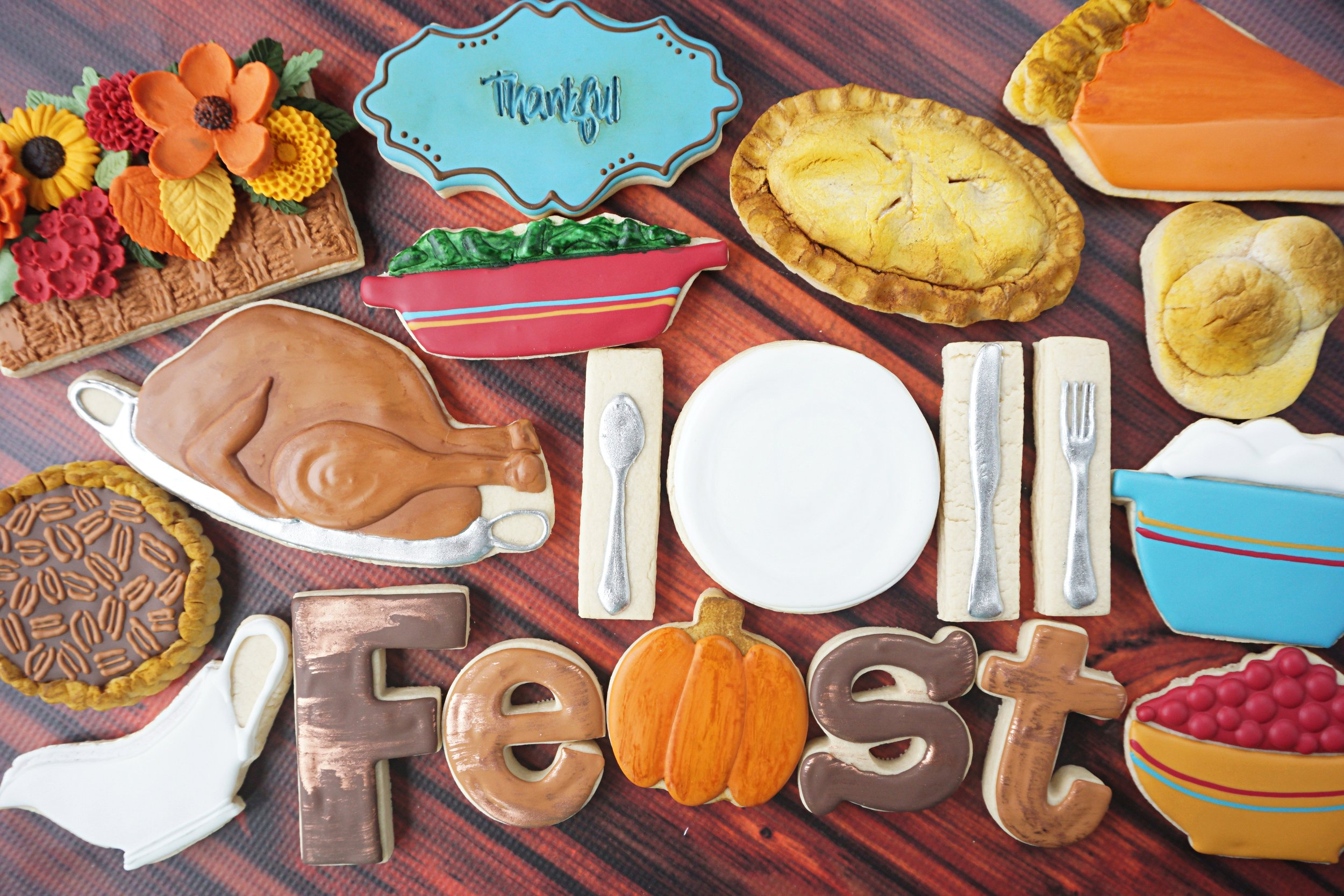 Thanksgiving FEAST Decorated Cookie Collection