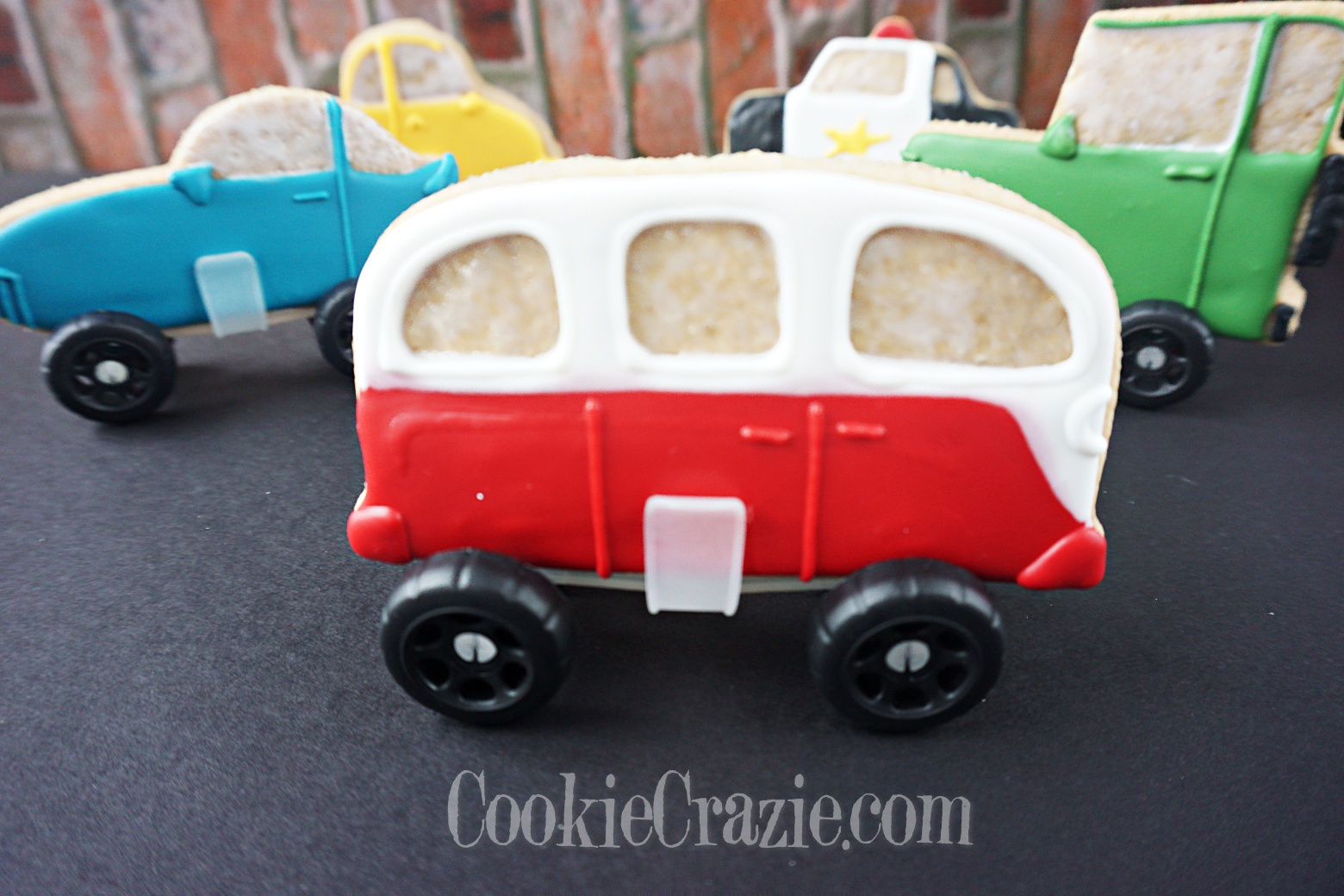 Finn's VW Bus Decorated Sugar Cookie YouTube video  HERE