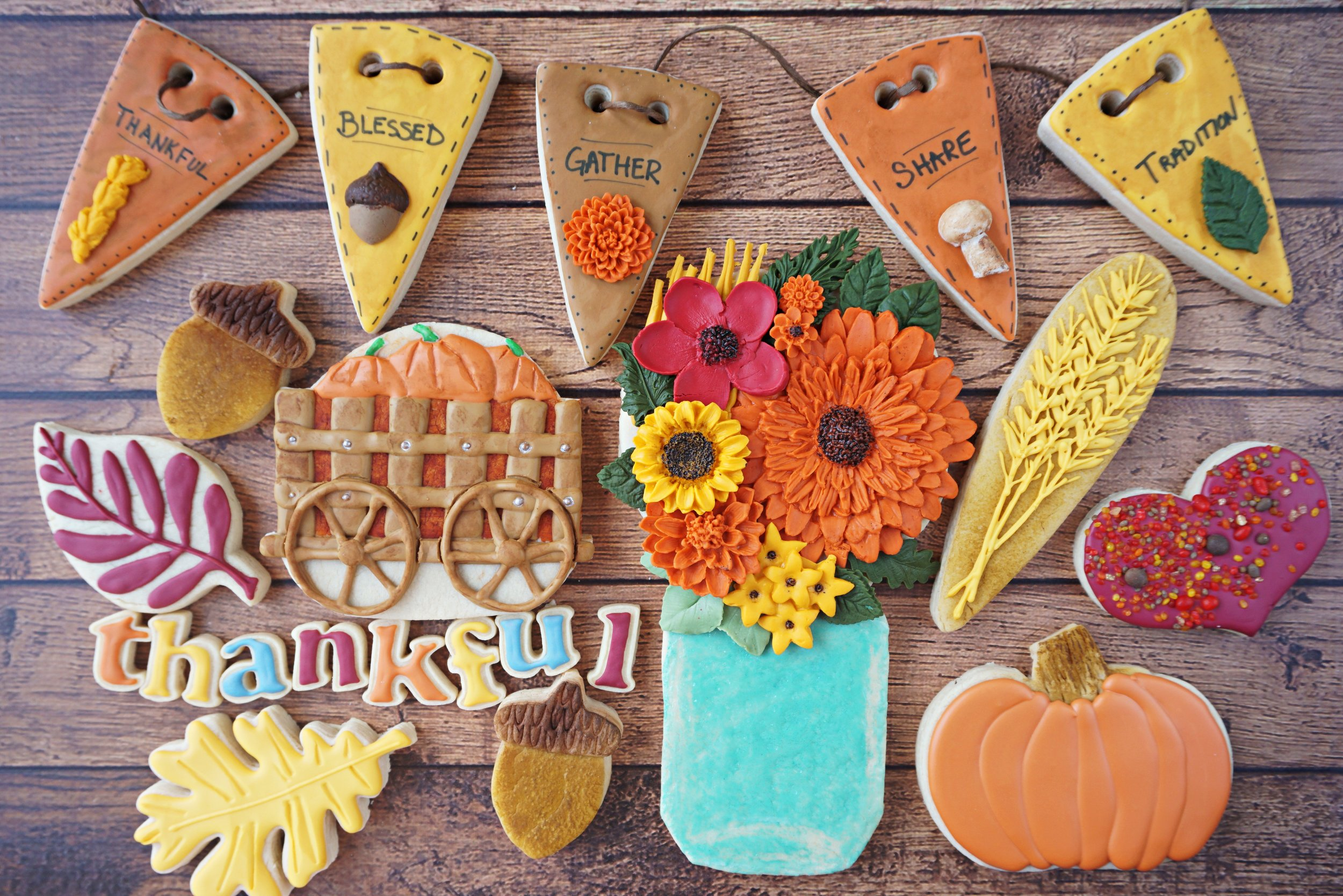 Thanksgiving 2018 Decorated Cookie Collection