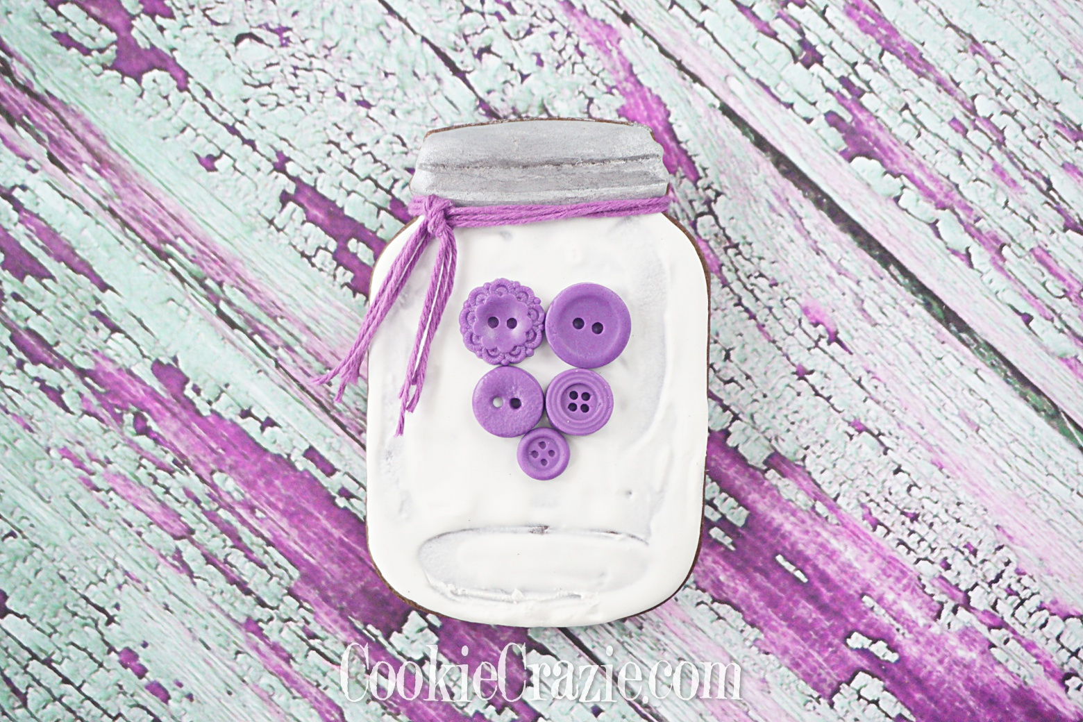 Valentine Mason Jar Decorated Sugar Cookie YouTube video  HERE