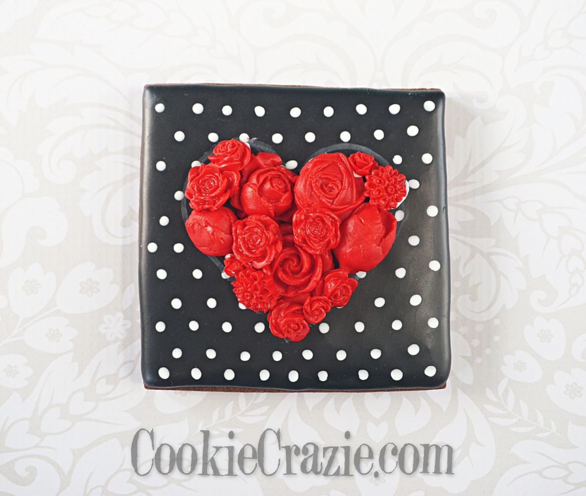 Floral Heart Decorated Sugar Cookie YouTube video  HERE