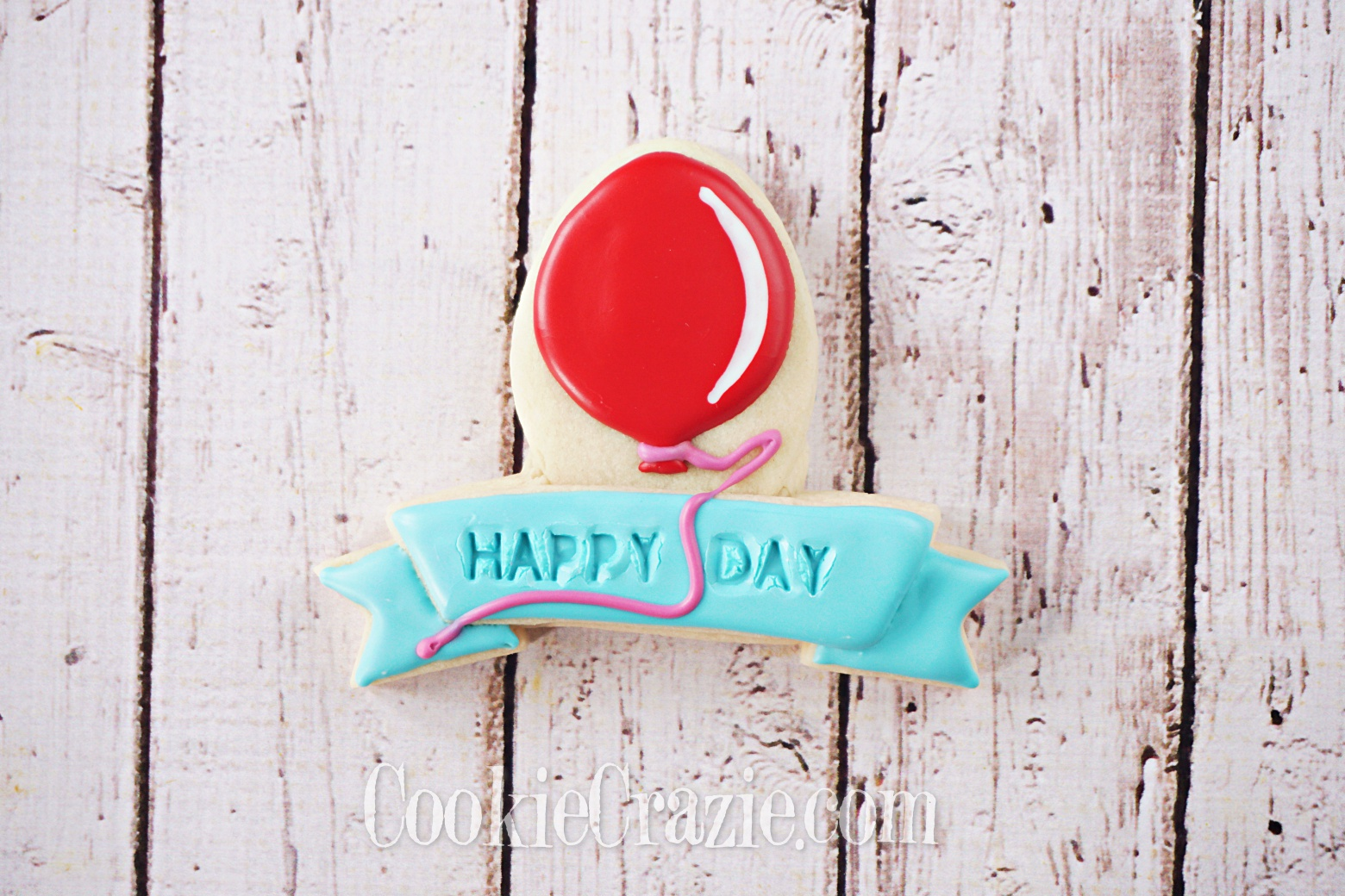 Birthday Balloon Banner Decorated Sugar Cookie YouTube video  HERE
