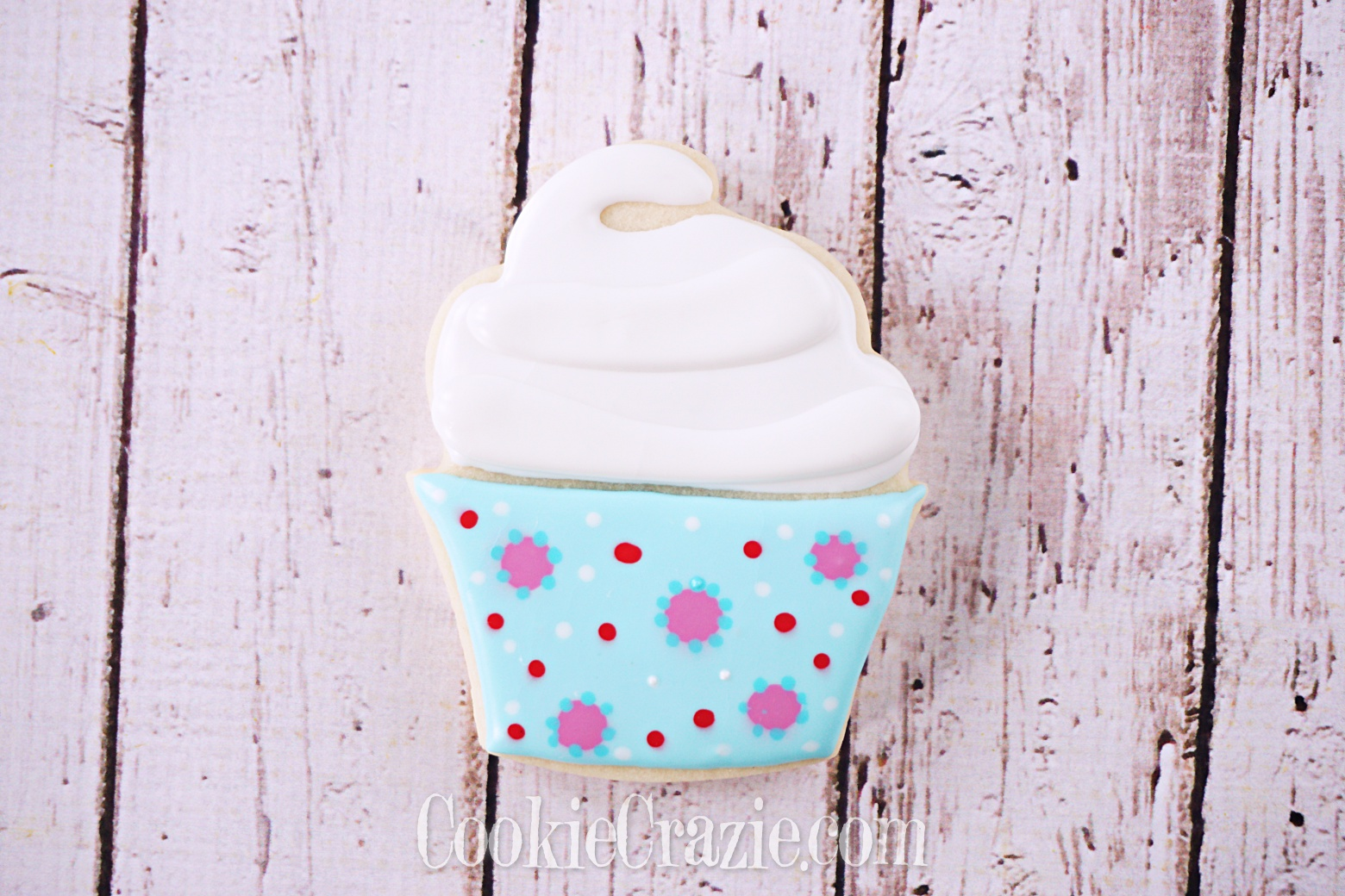 Cupcake with Sleeve Decorated Sugar Cookie YouTube video  HERE