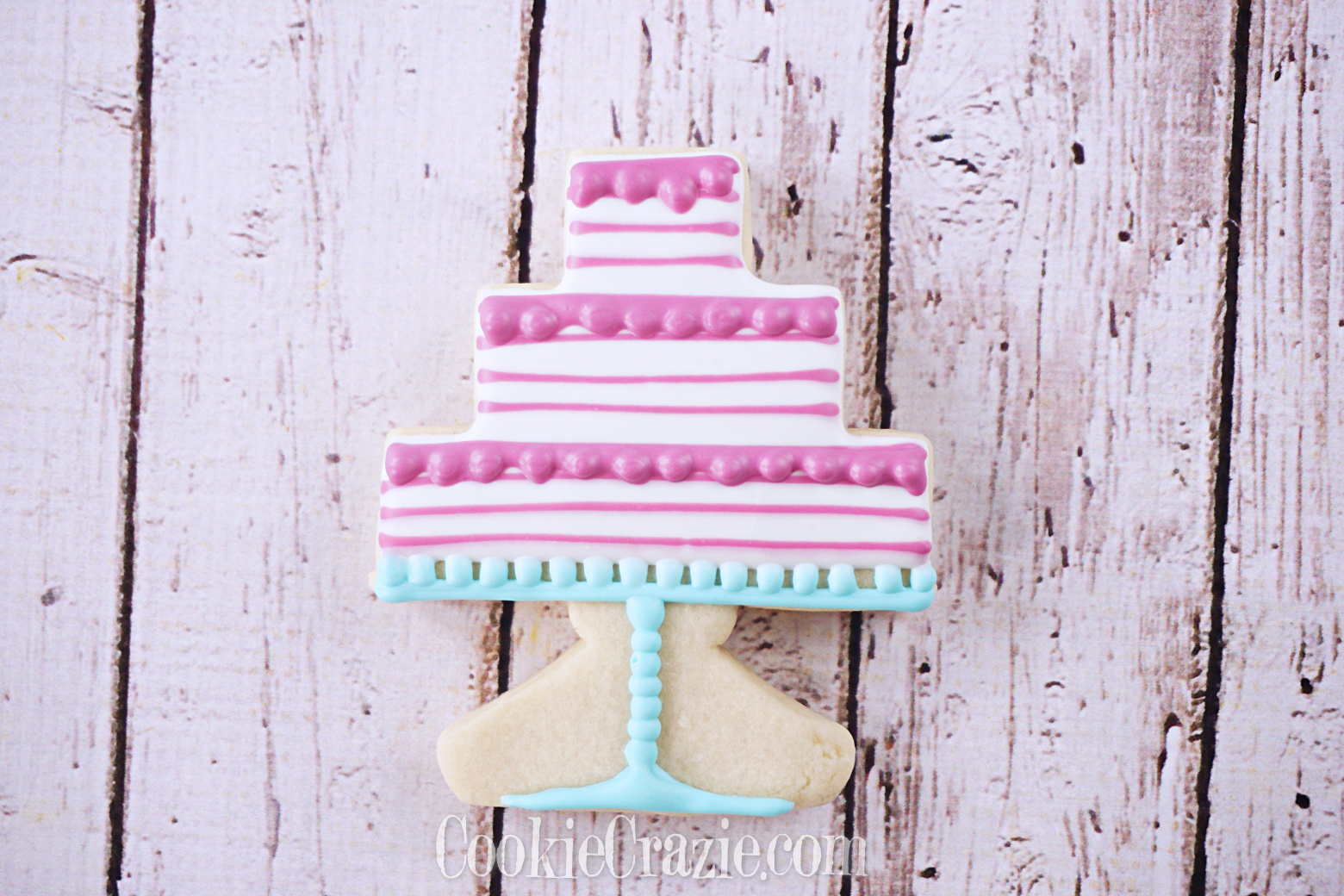 Happy Birthday 3 Tier Pedestal Cake Decorated Sugar Cookie YouTube video  HERE