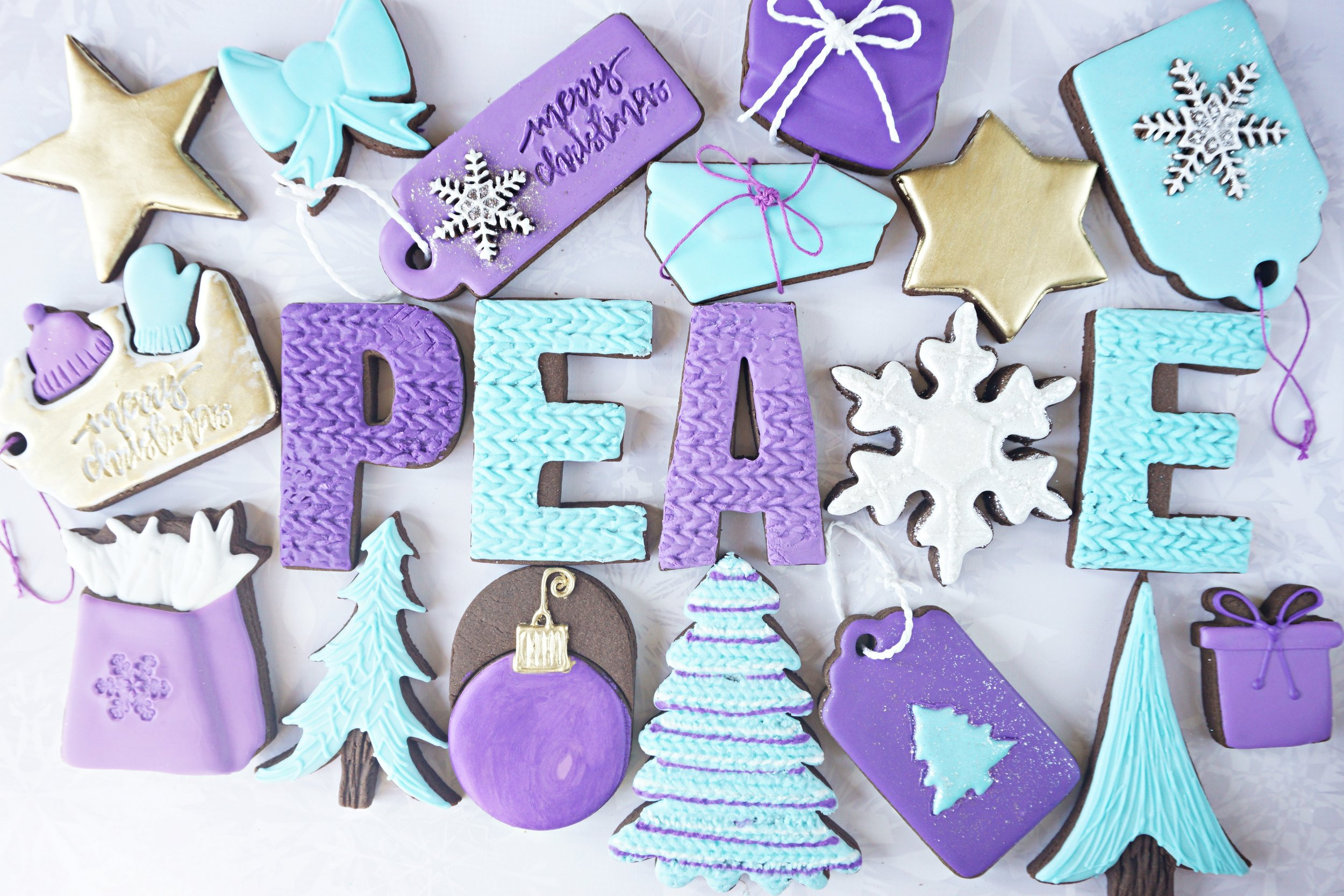 Christmas Peace Decorated Cookie Collection