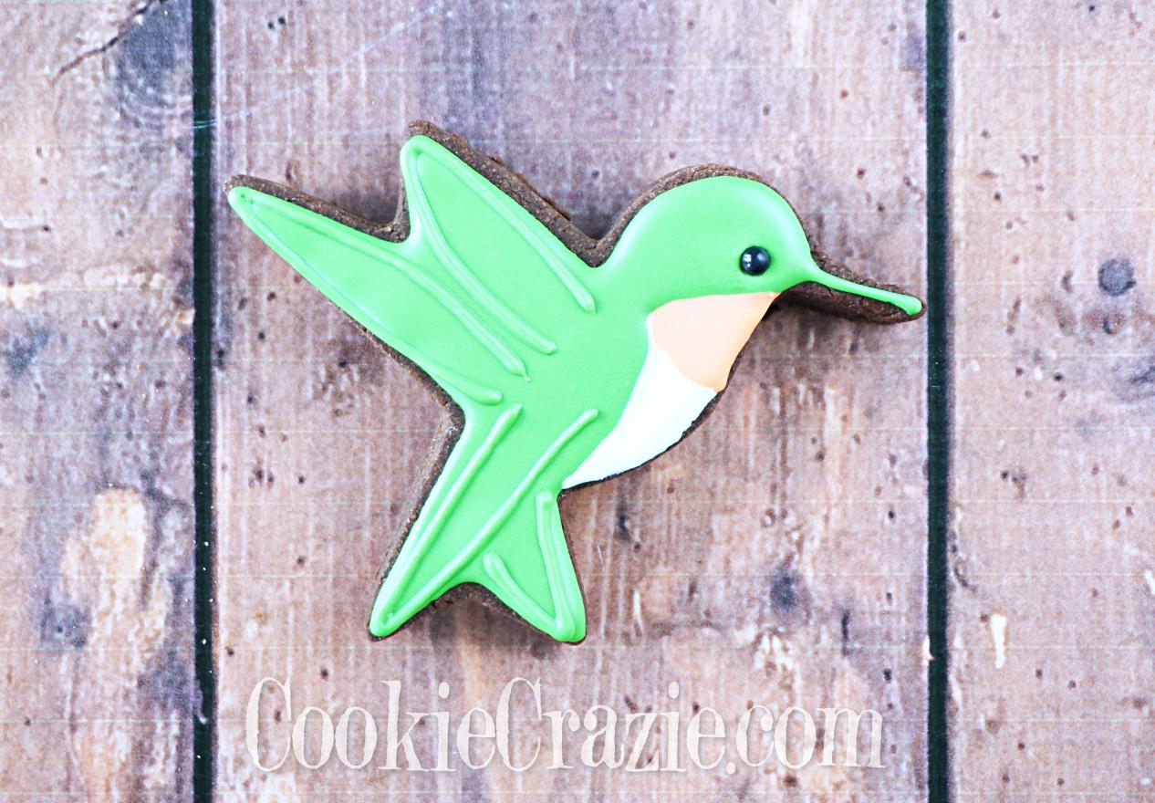 Hummingbird Decorated Sugar Cookies YouTube video  HERE
